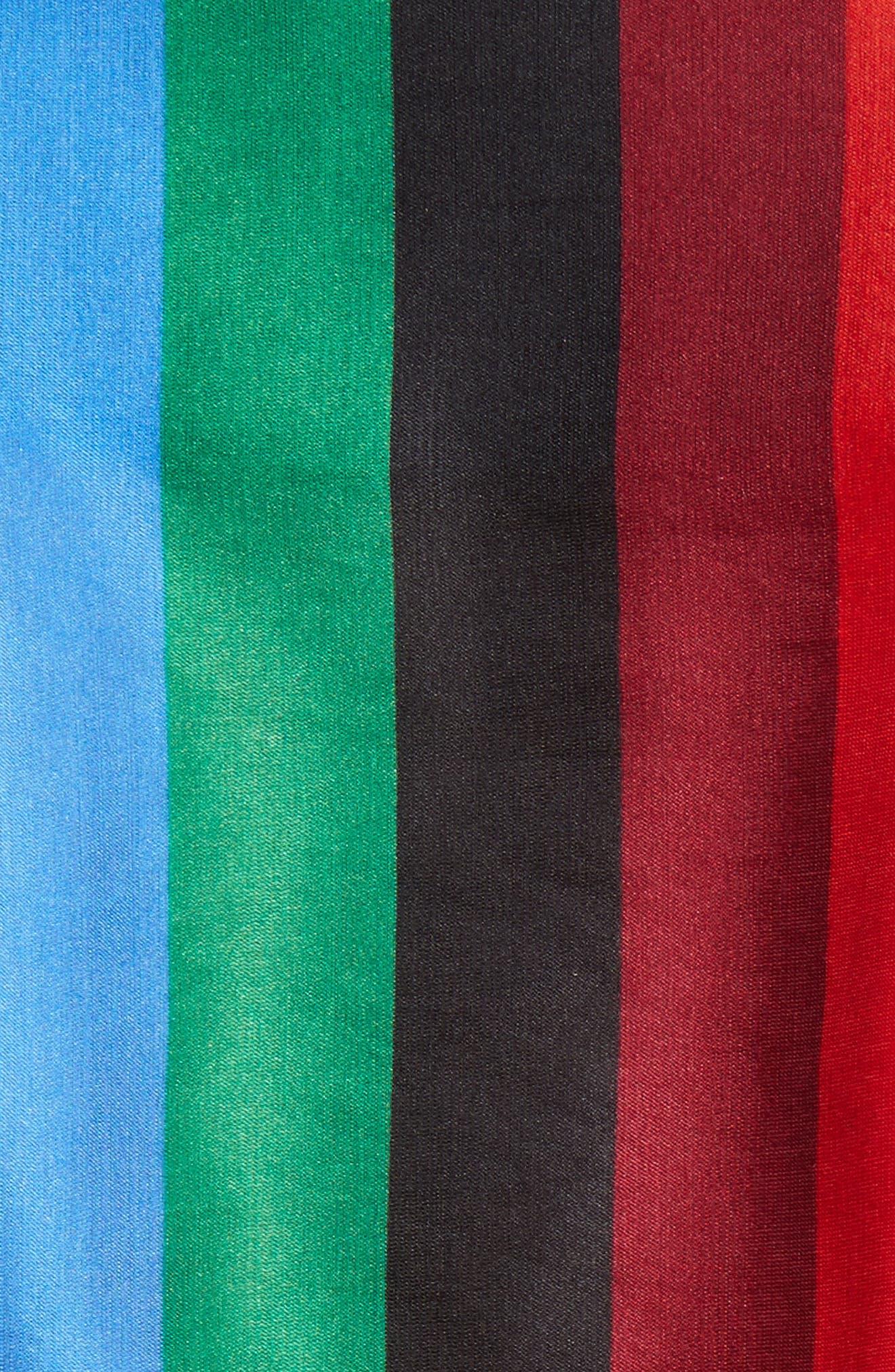Dyanna Wrap Front Blouson Top,                             Alternate thumbnail 5, color,                             Rainbow Stripe