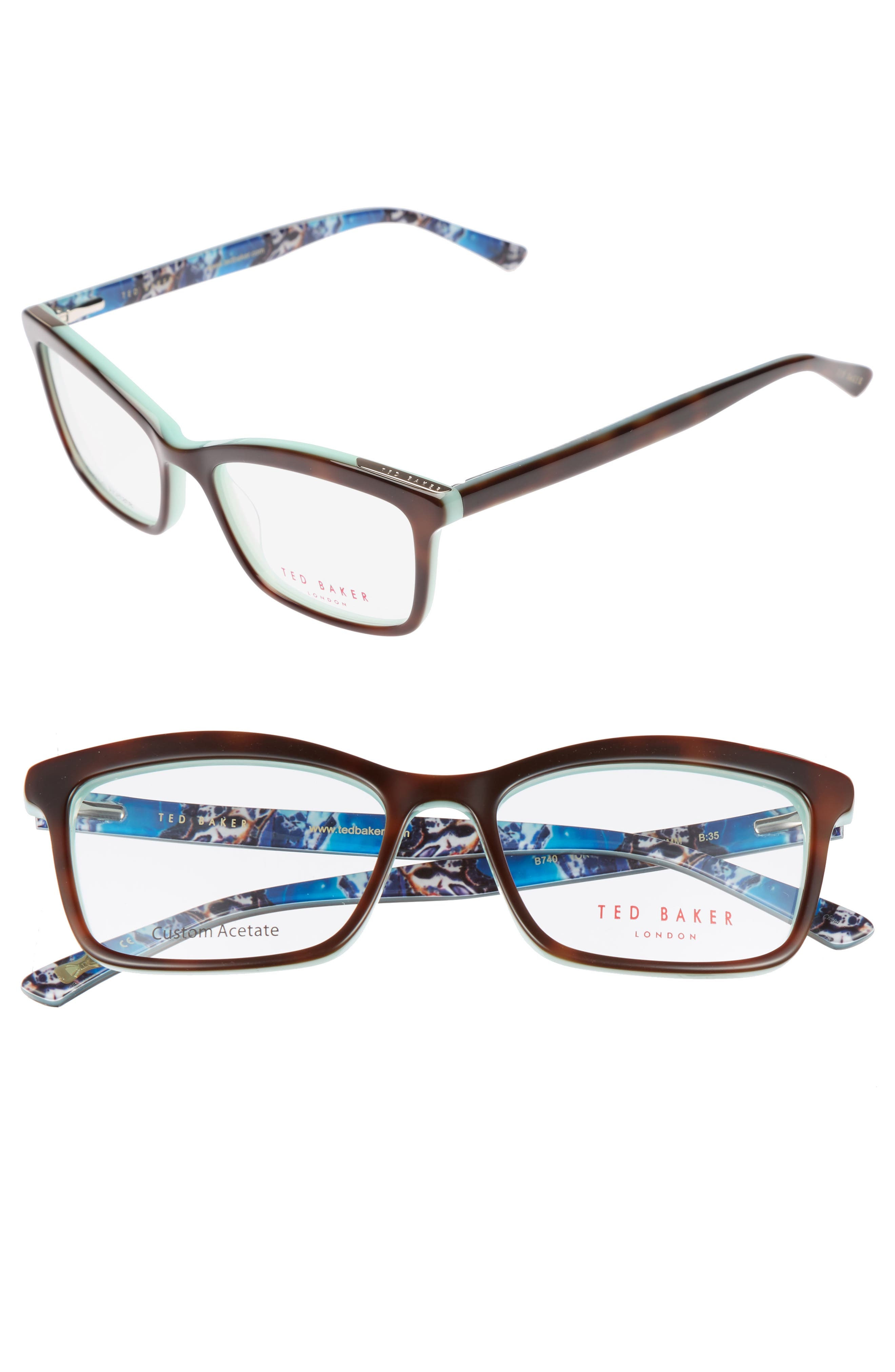 52mm Optical Glasses,                             Main thumbnail 1, color,                             Tortoise