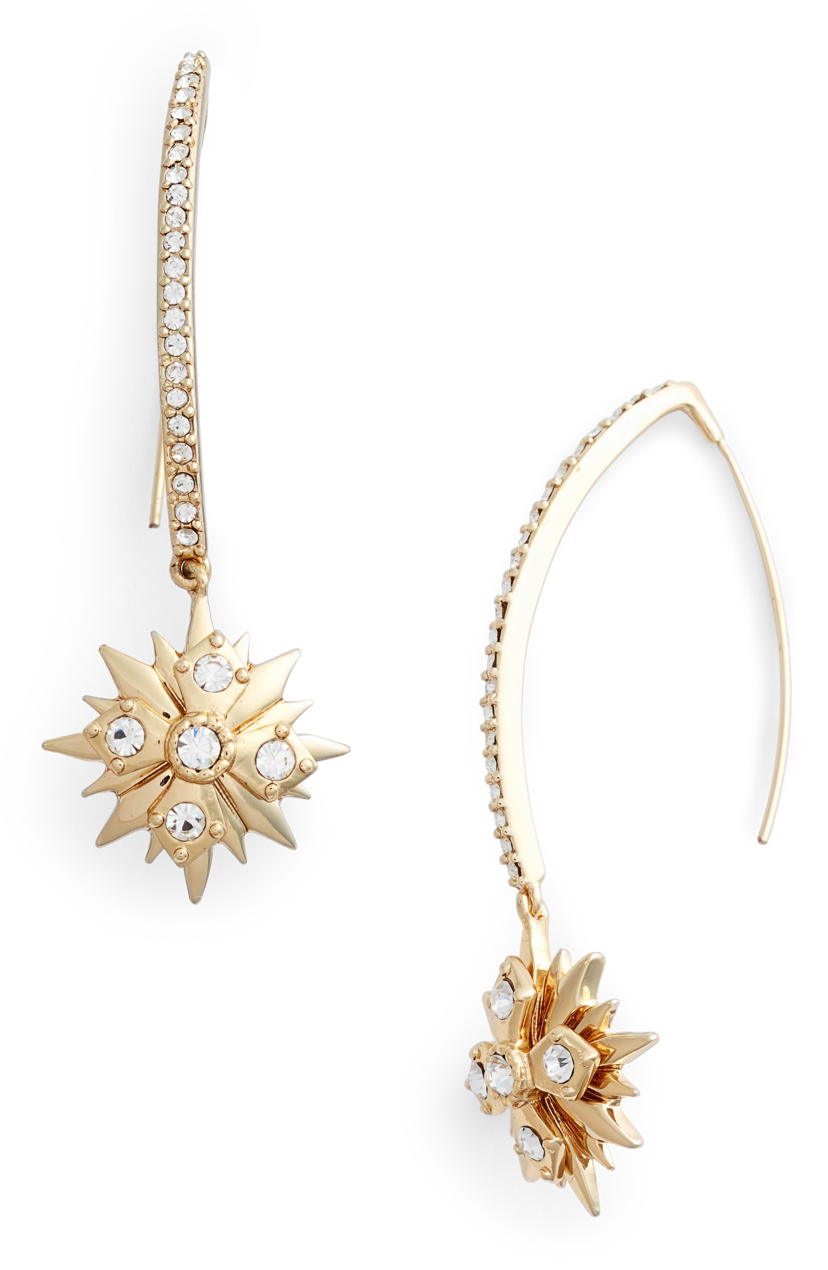 Jenny Packham Star Threader Earrings