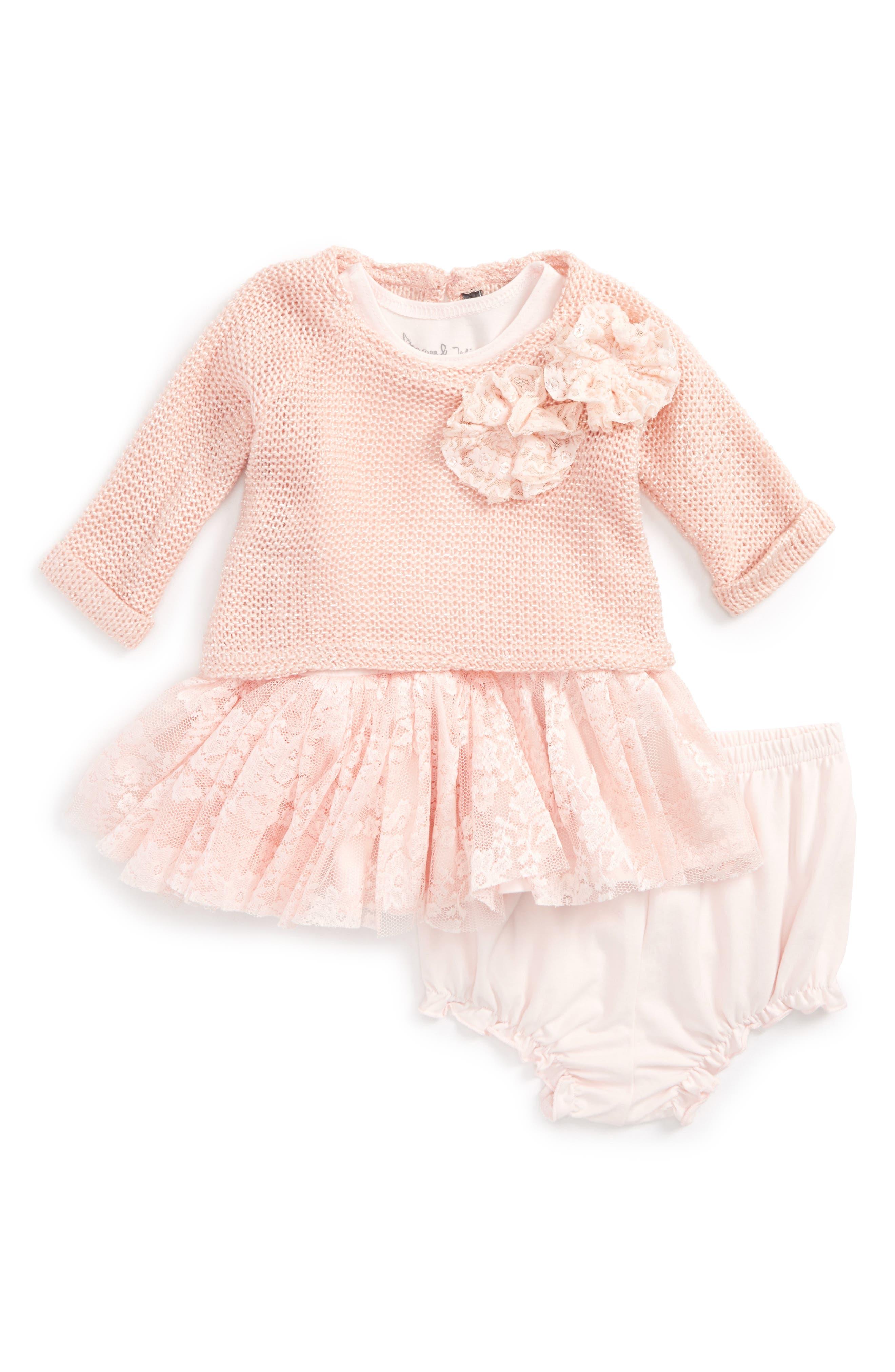 Sweater & Dress Set,                             Main thumbnail 1, color,                             Pink