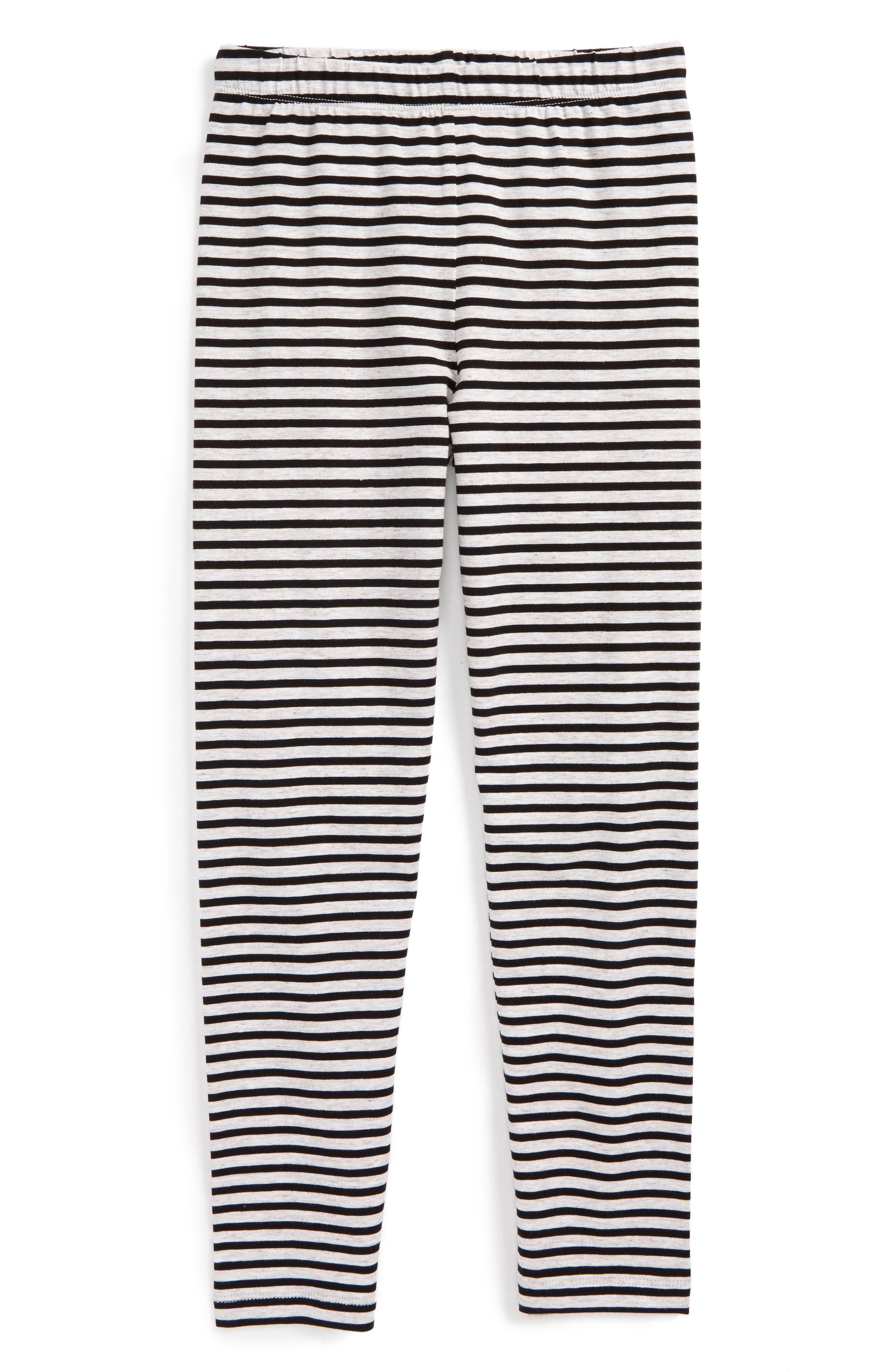 Stripe Leggings,                         Main,                         color, Black/ White