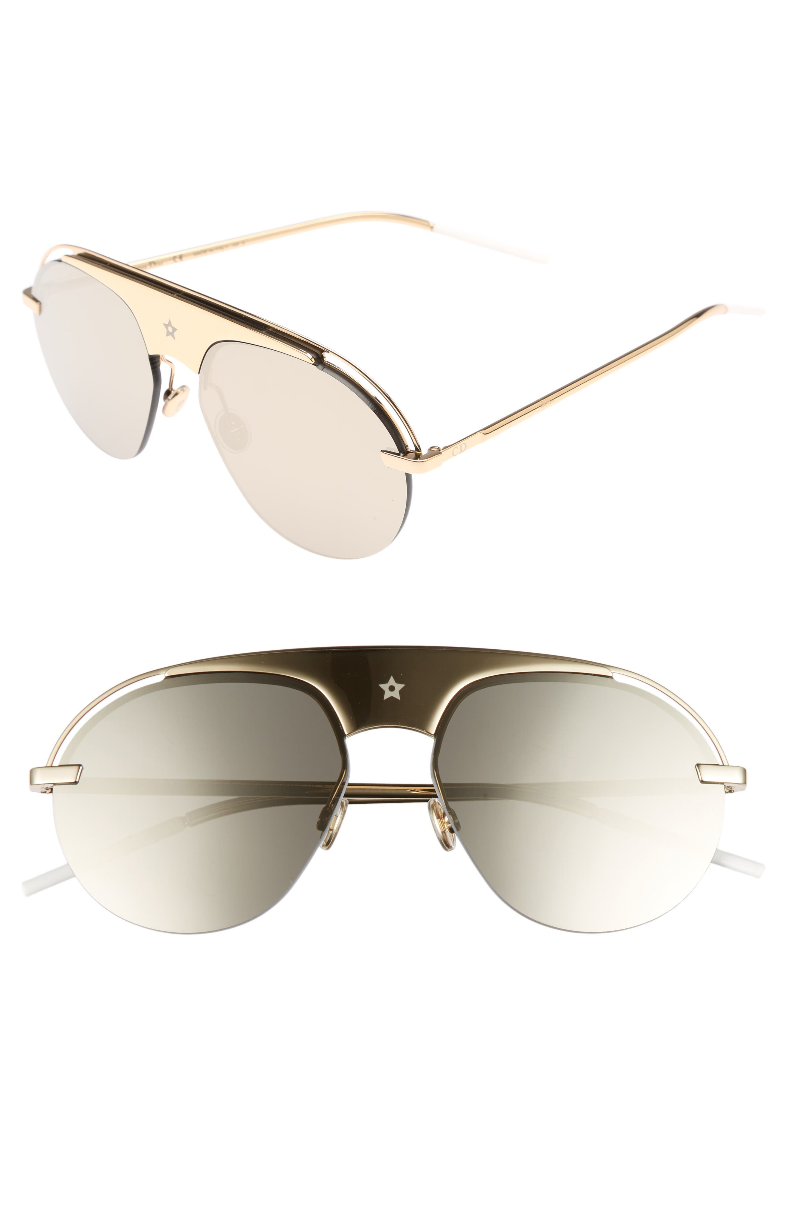 Main Image - Dior Evolution 2 60mm Aviator Sunglasses