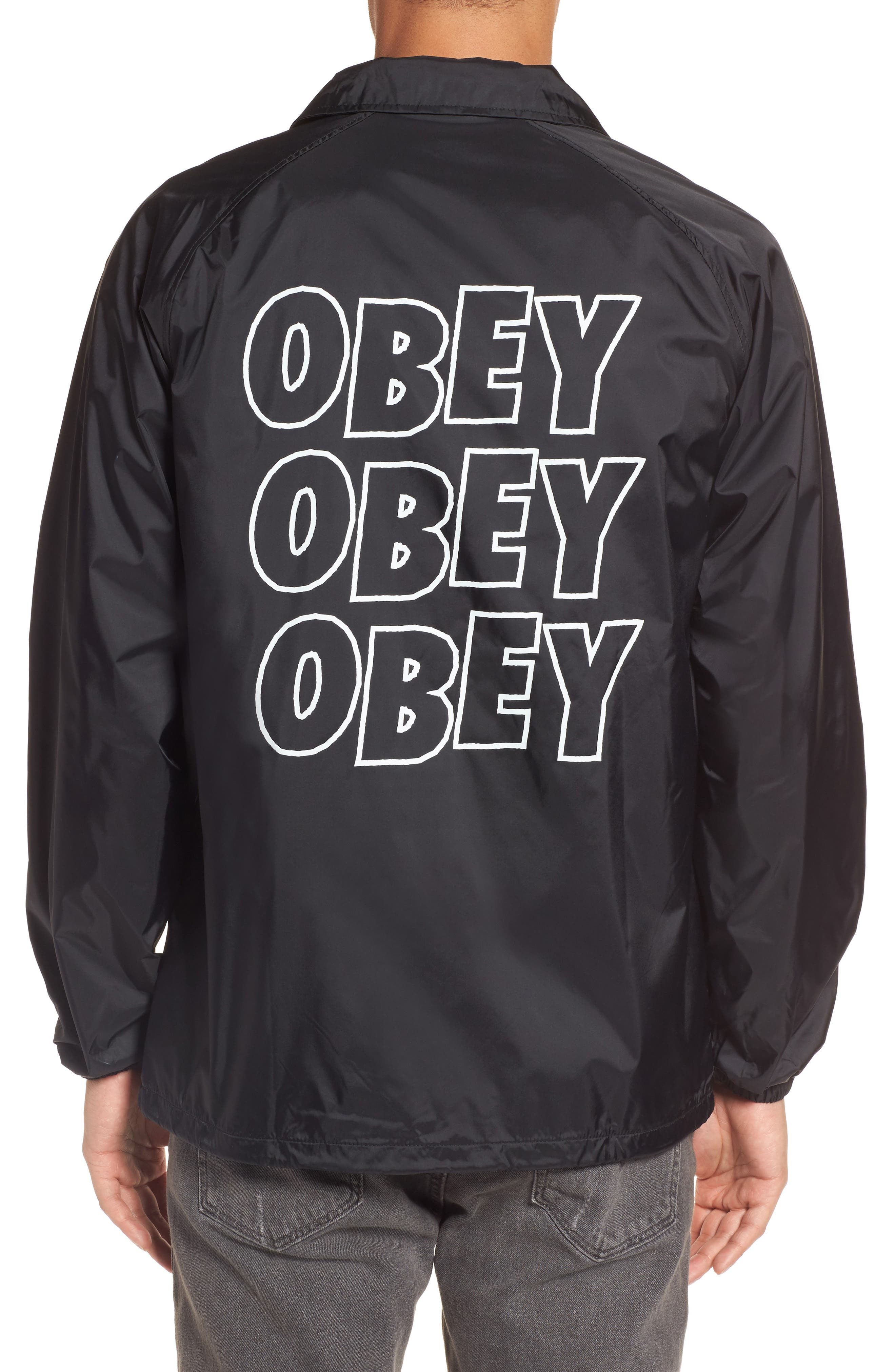 Alternate Image 2  - Obey Lo-Fi Graphic Coach's Jacket