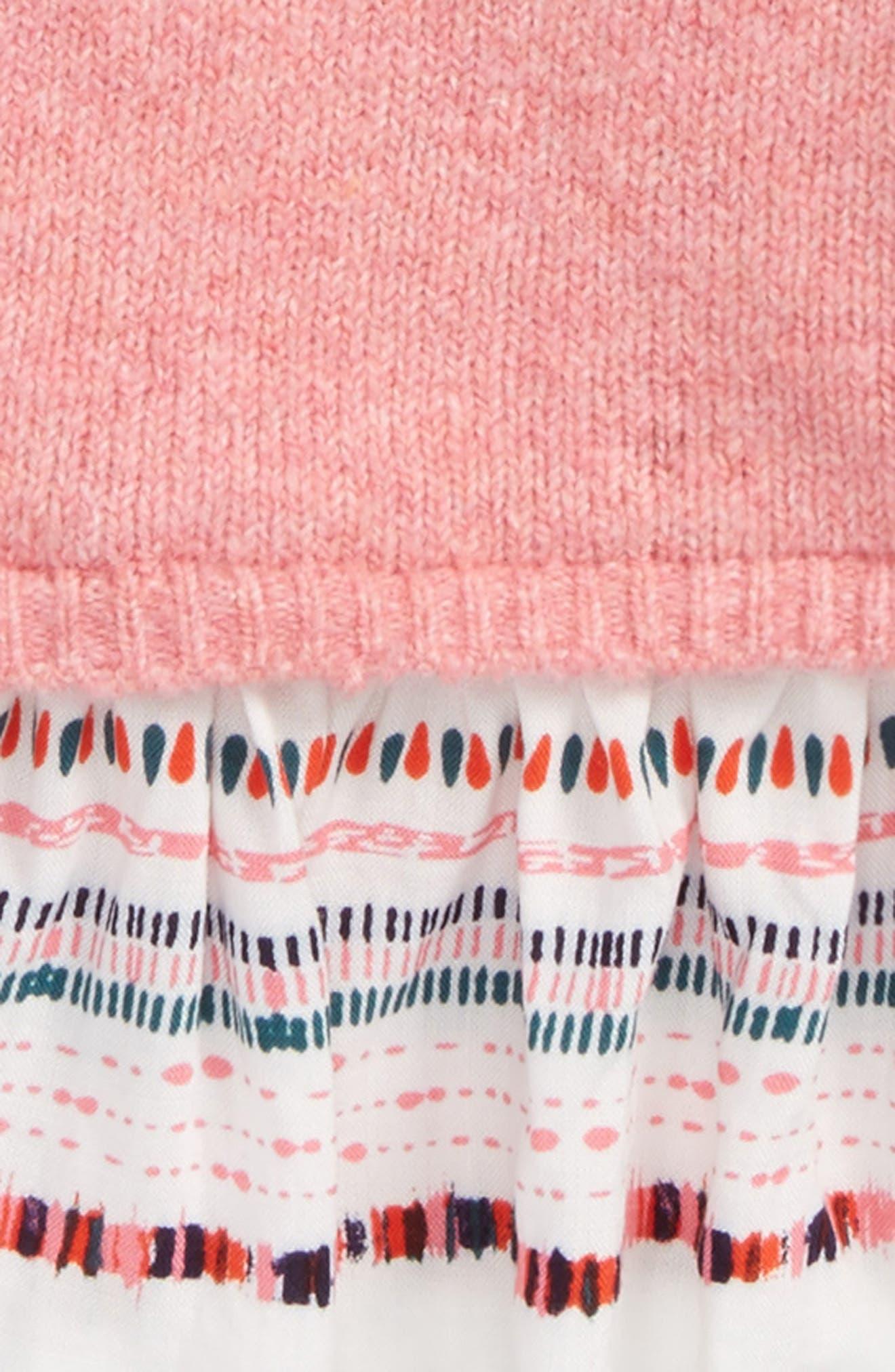 Ruffle Sweater,                             Alternate thumbnail 2, color,                             Pink Lemonade Heather Geo