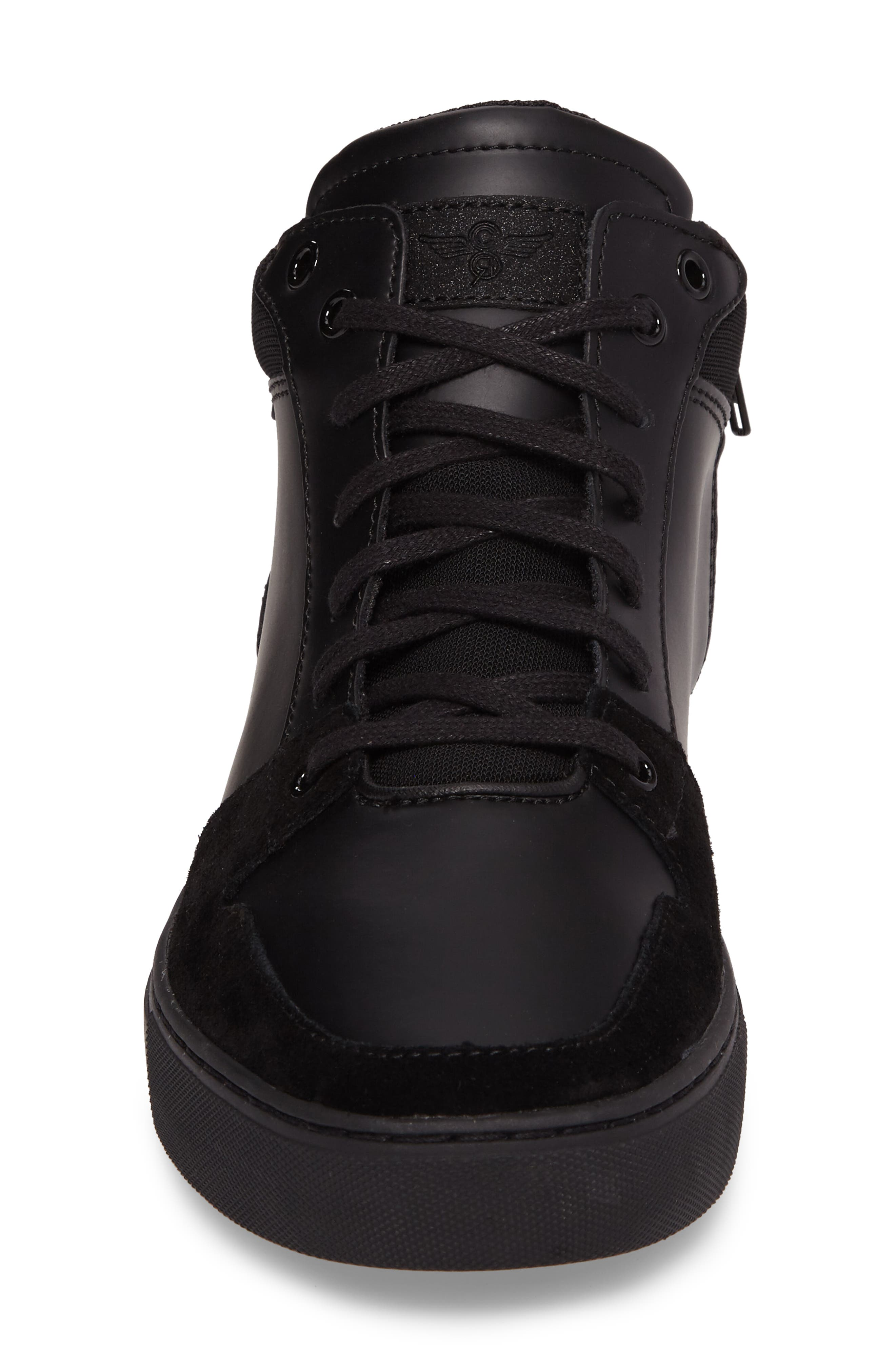Modena Sneaker,                             Alternate thumbnail 4, color,                             Black Tech