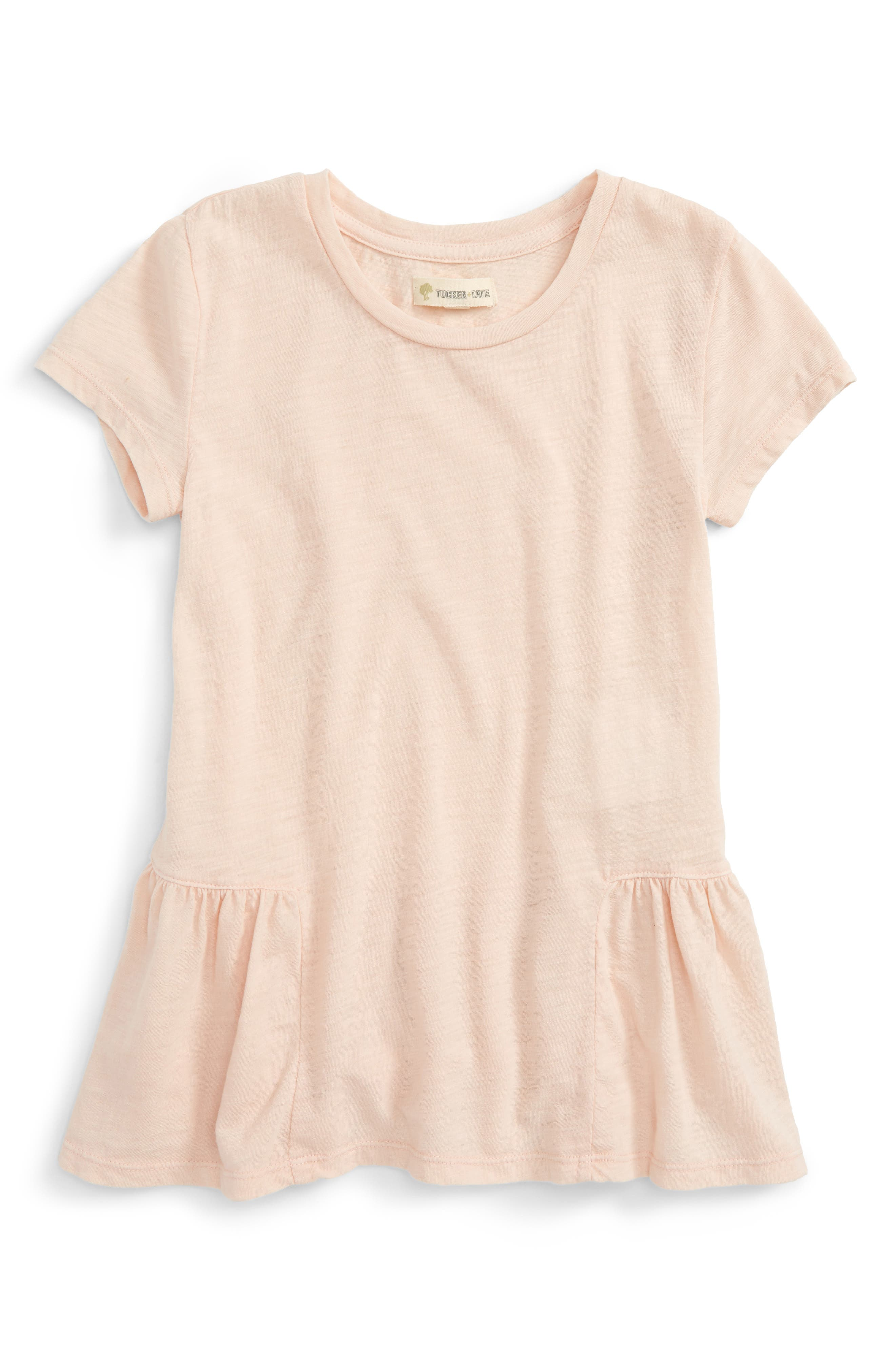 Peplum Tee,                         Main,                         color, Pink Glow