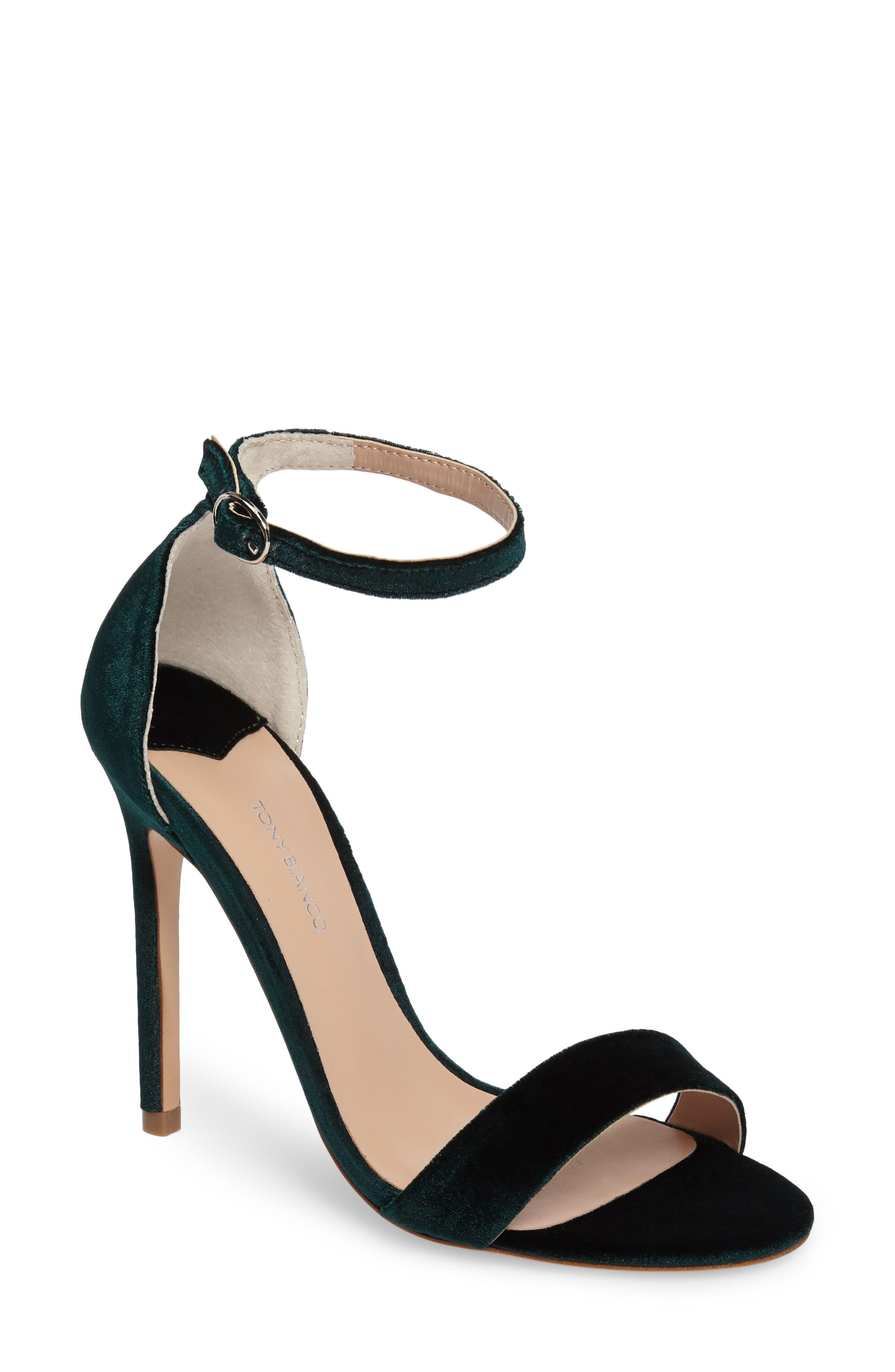 Karvan Ankle Strap Sandal,                             Main thumbnail 1, color,                             Forest Velvet