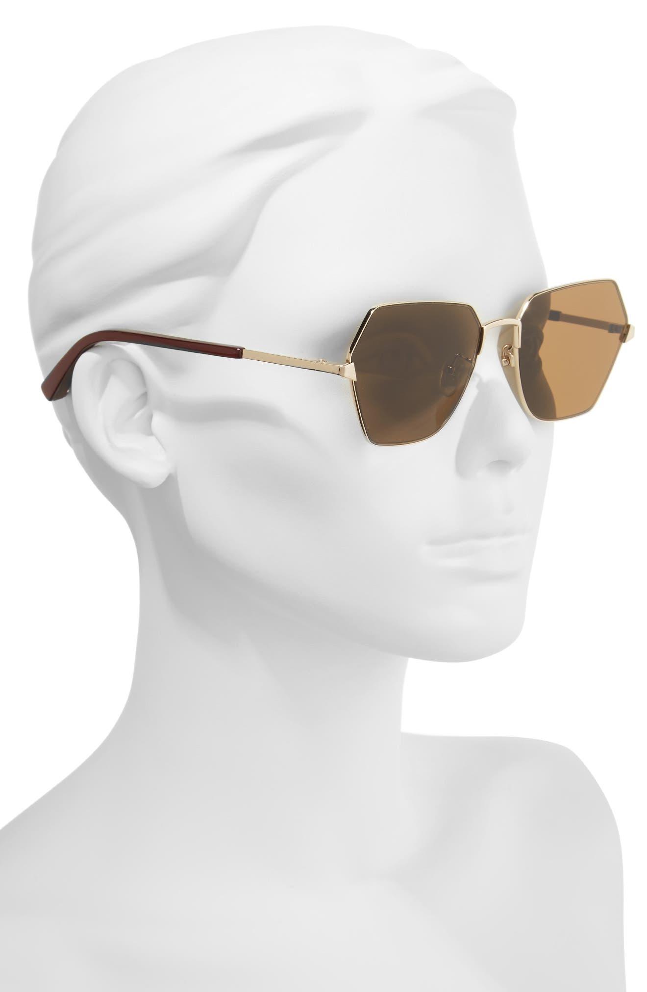 Henly 56mm Sunglasses,                             Alternate thumbnail 2, color,                             Gold