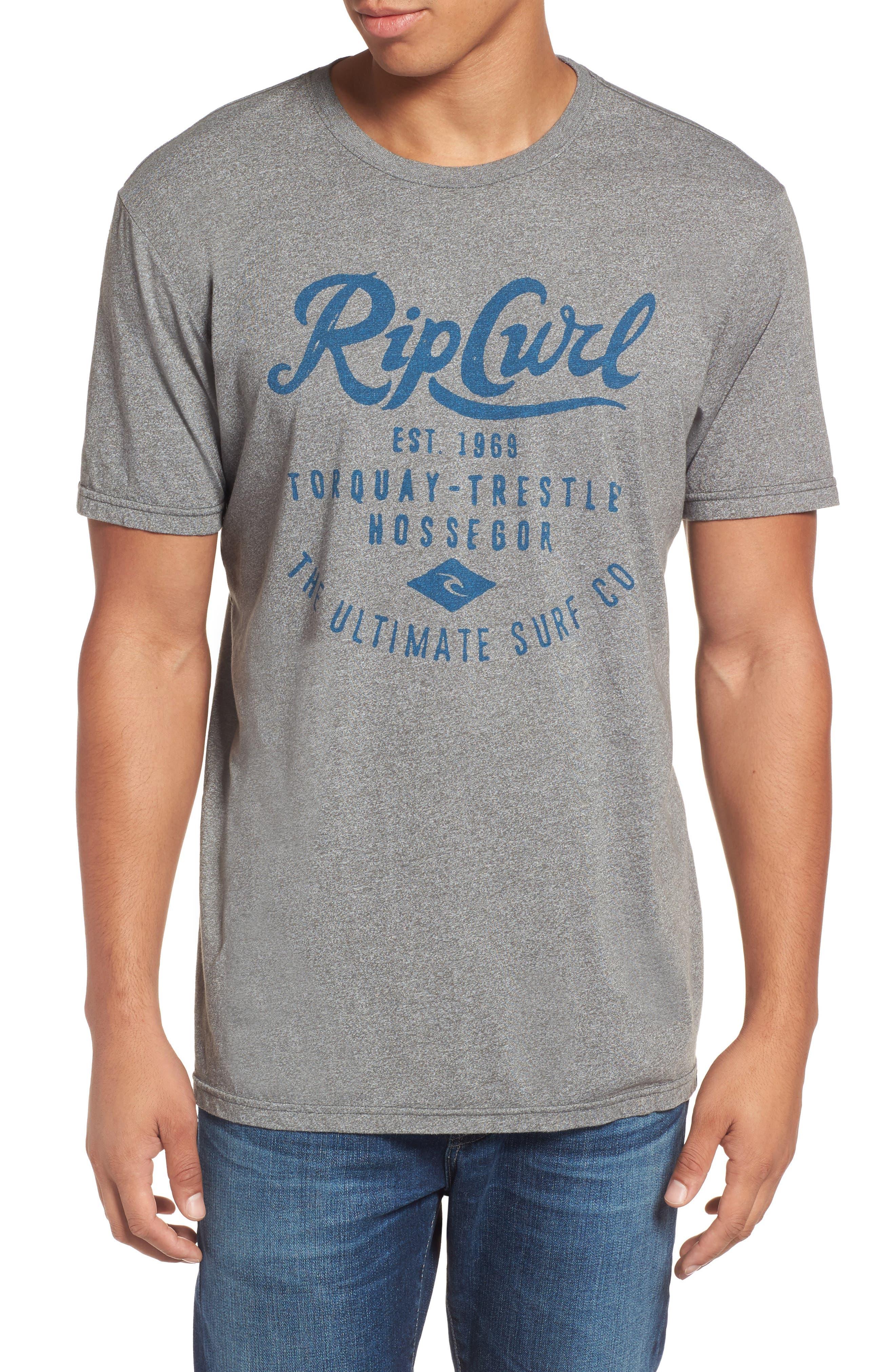 Alternate Image 1 Selected - Rip Curl Era Mock Twist Logo Graphic T-Shirt
