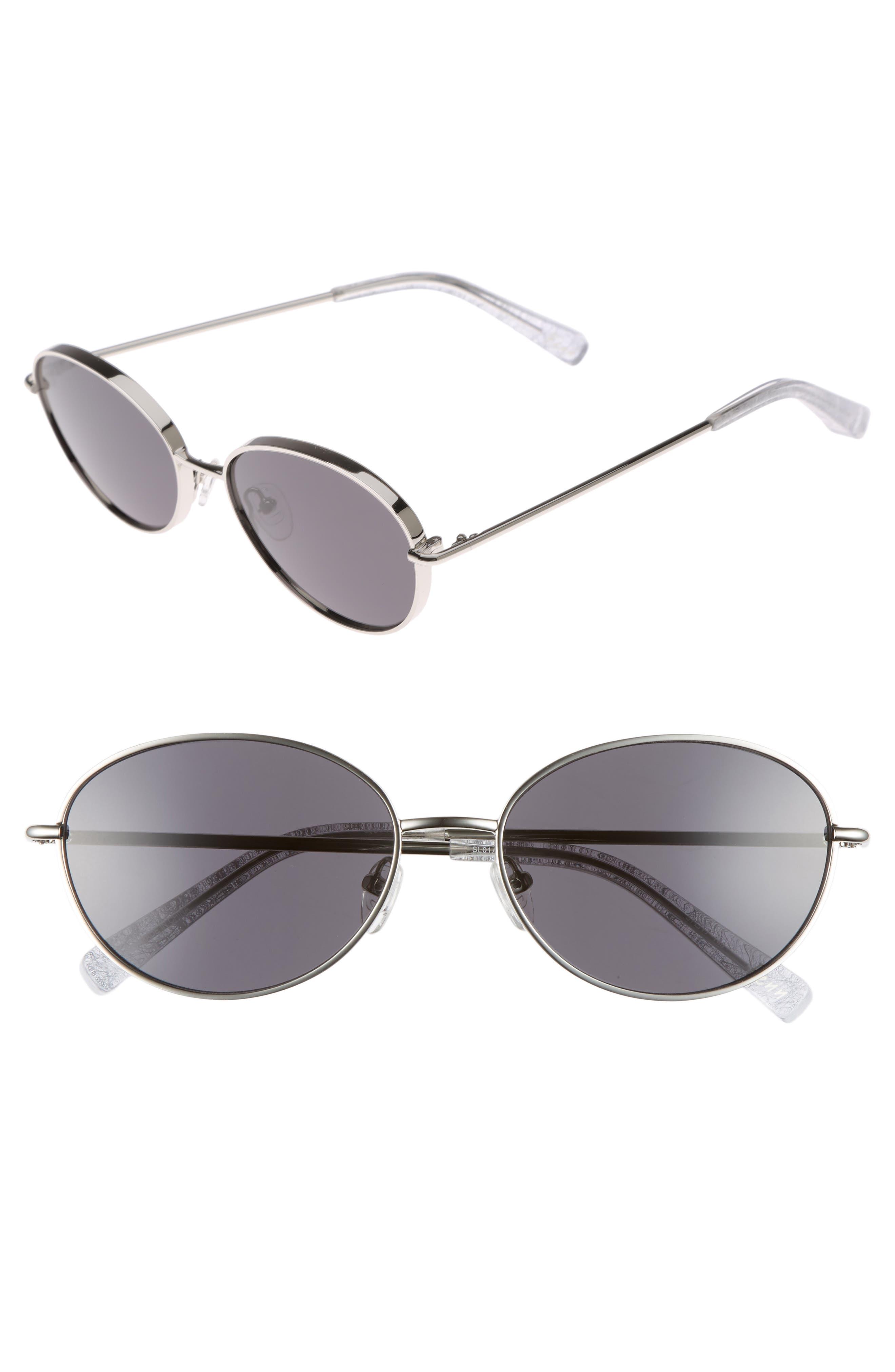 Fenn 57mm Oval Sunglasses,                         Main,                         color, Silver