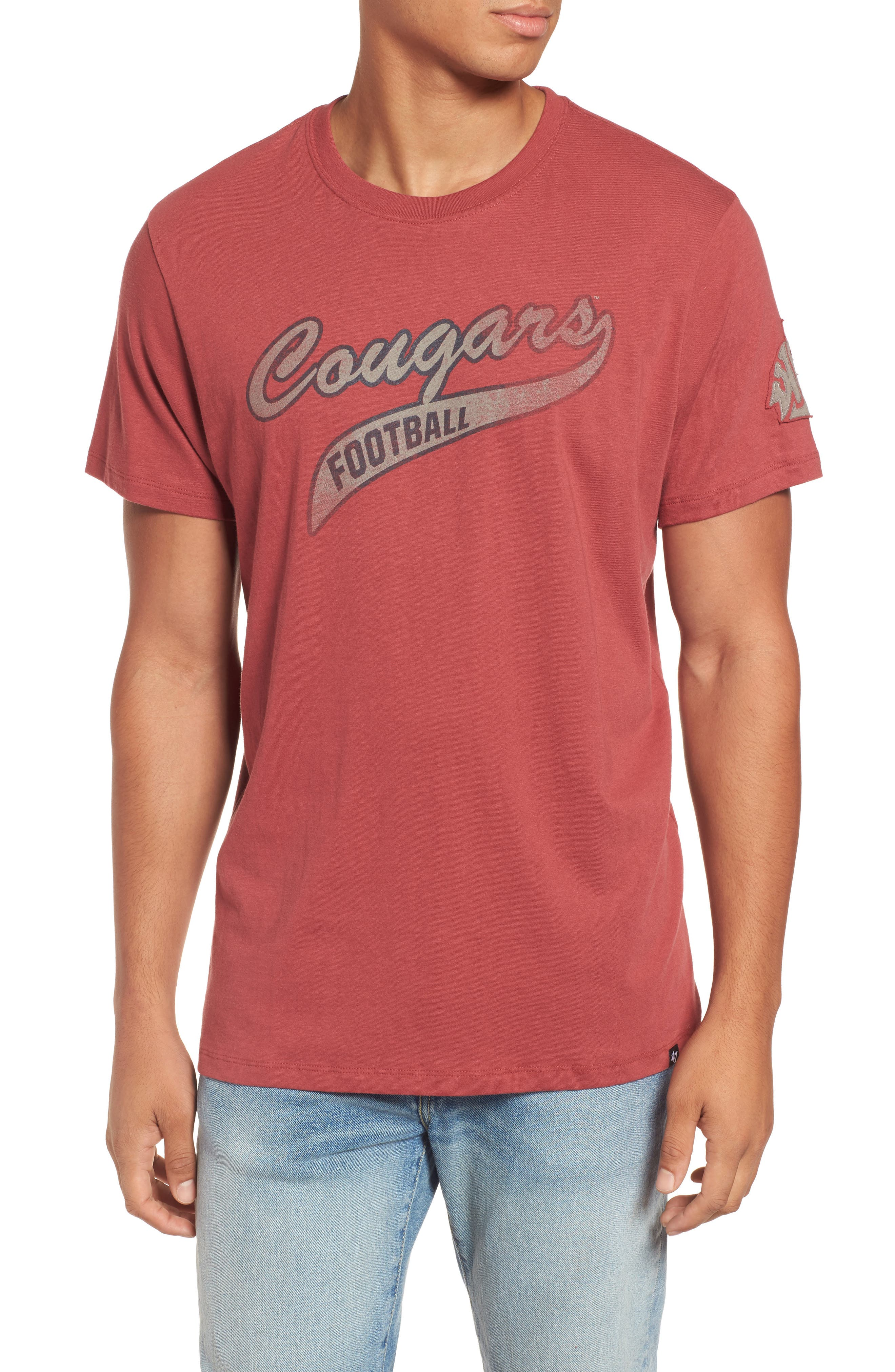 Washington State University Cougars Borderland T-Shirt,                             Main thumbnail 1, color,                             Red