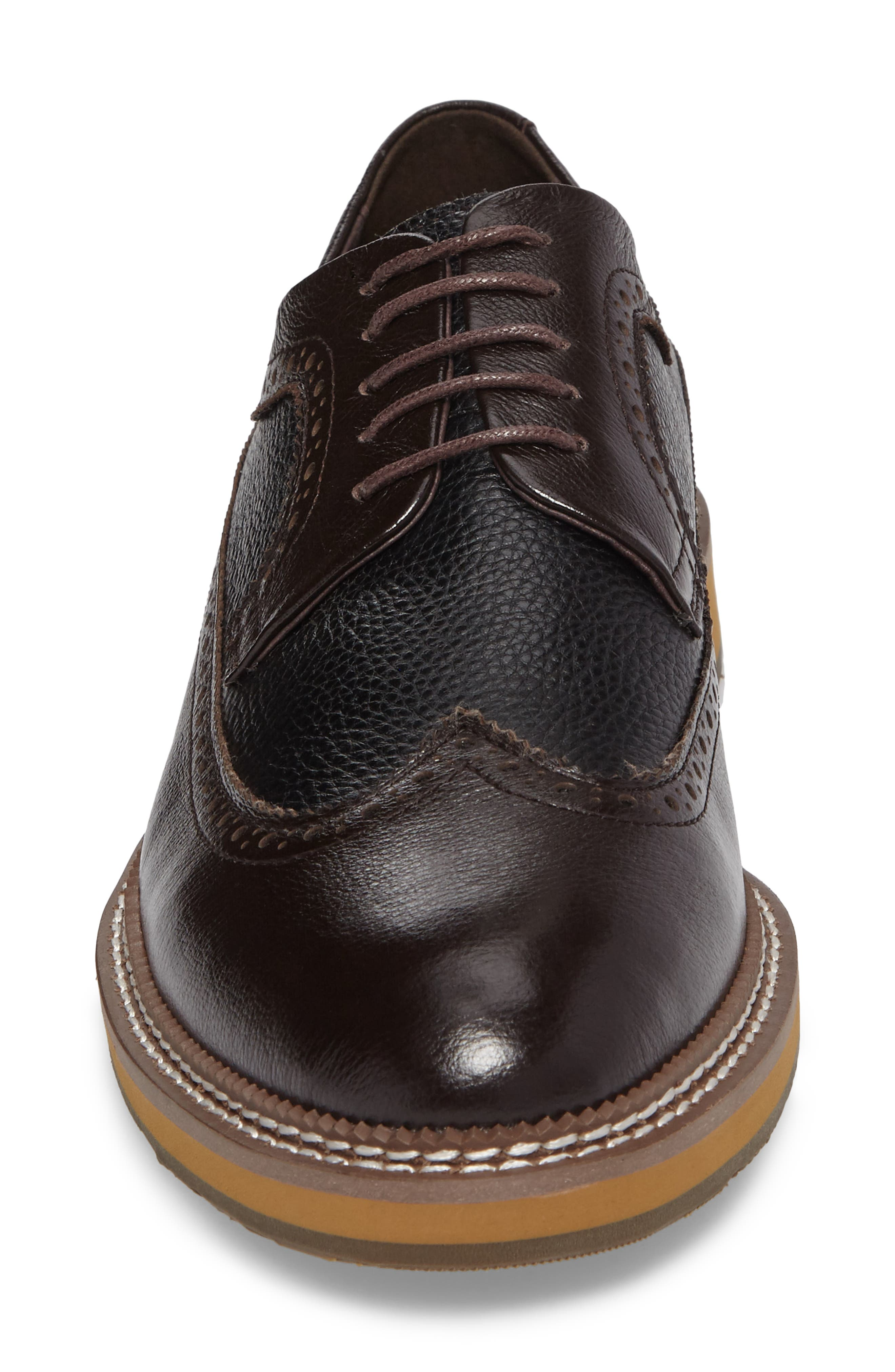 Fouquet Wingtip Derby,                             Alternate thumbnail 4, color,                             Brown Leather
