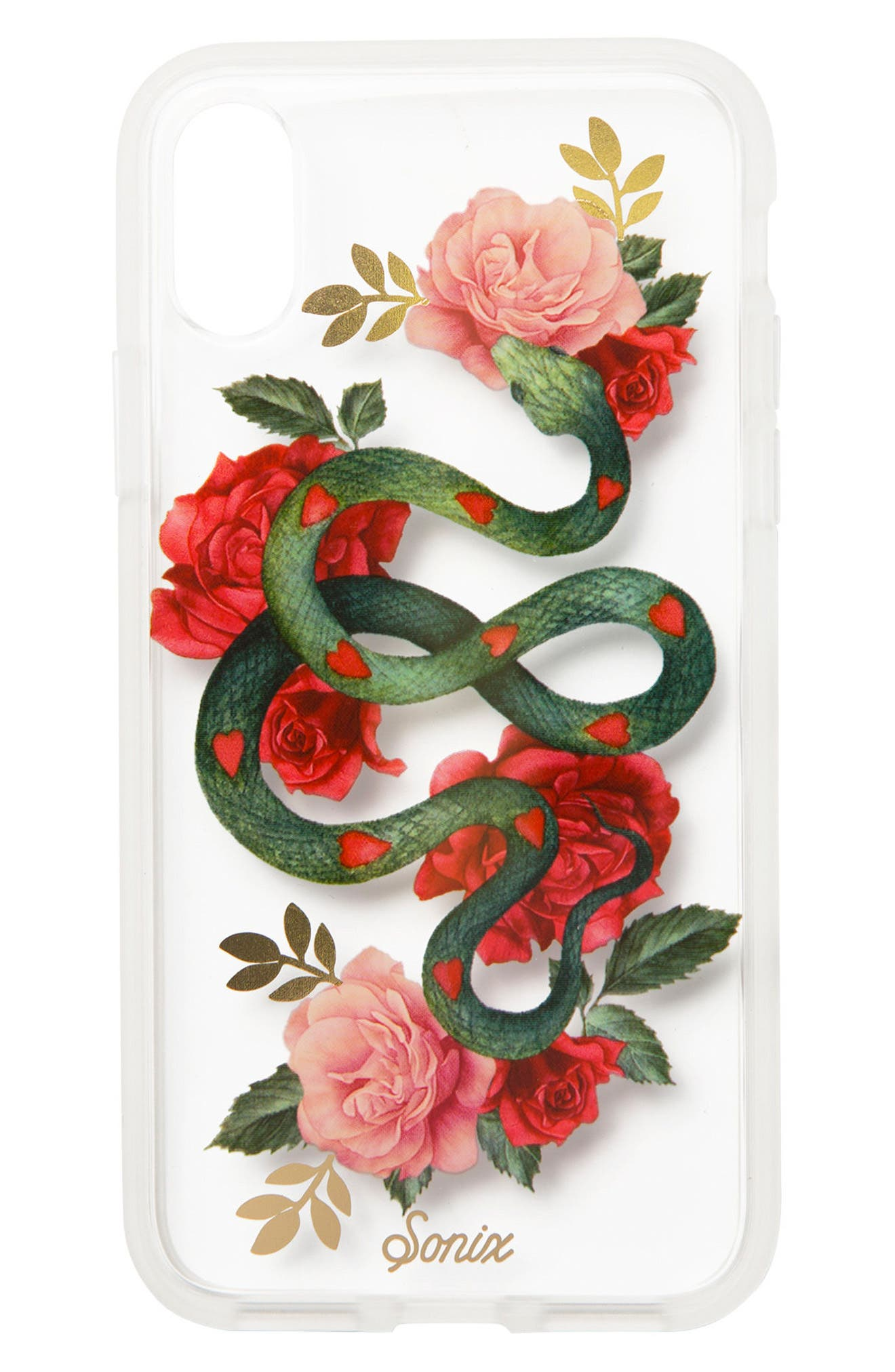 Snake Heart Print iPhone 7/8 & 7/8 Plus Case,                         Main,                         color, Clear/ Multi