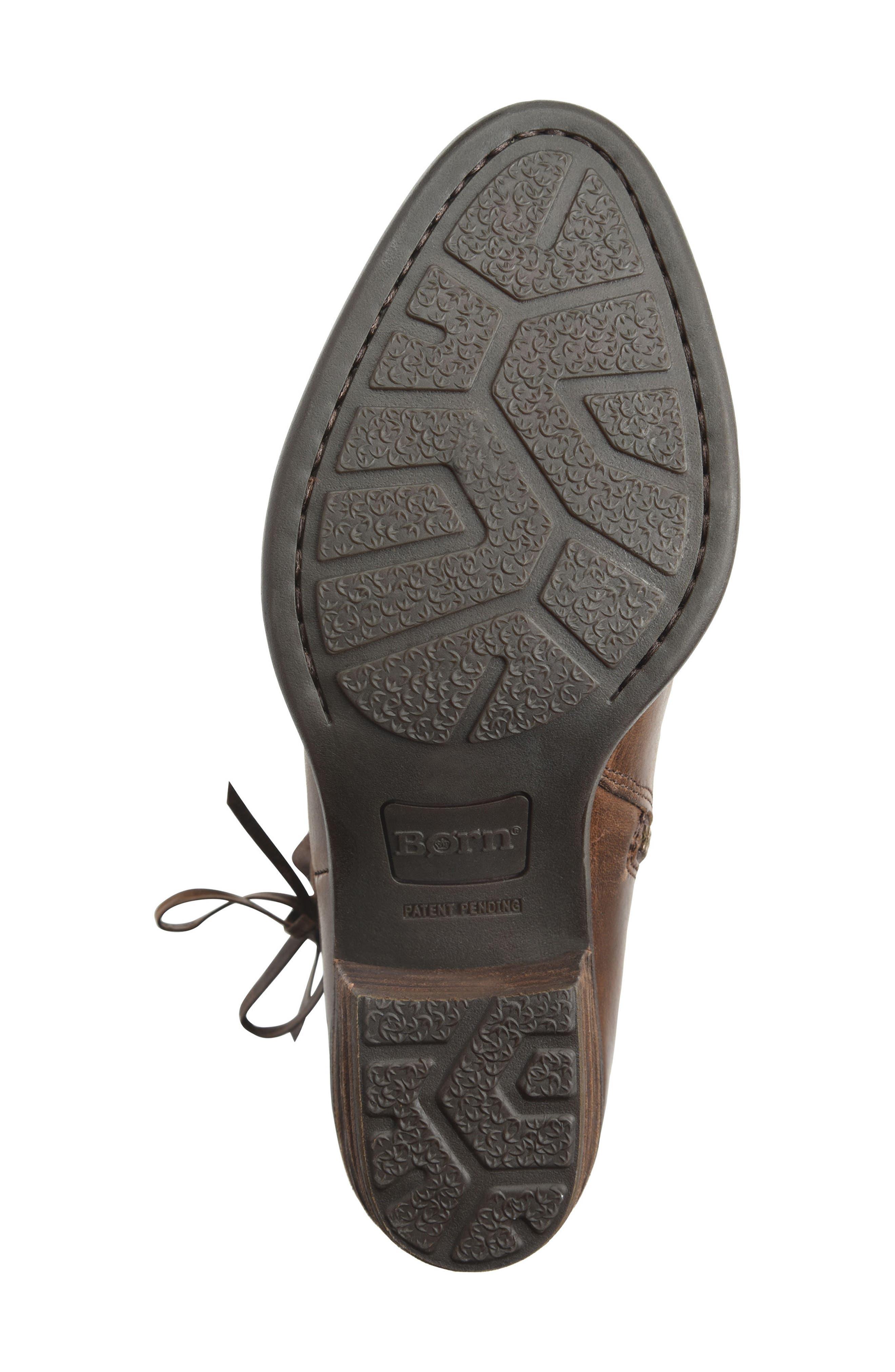 Bowlen Bootie,                             Alternate thumbnail 6, color,                             Brown Leather