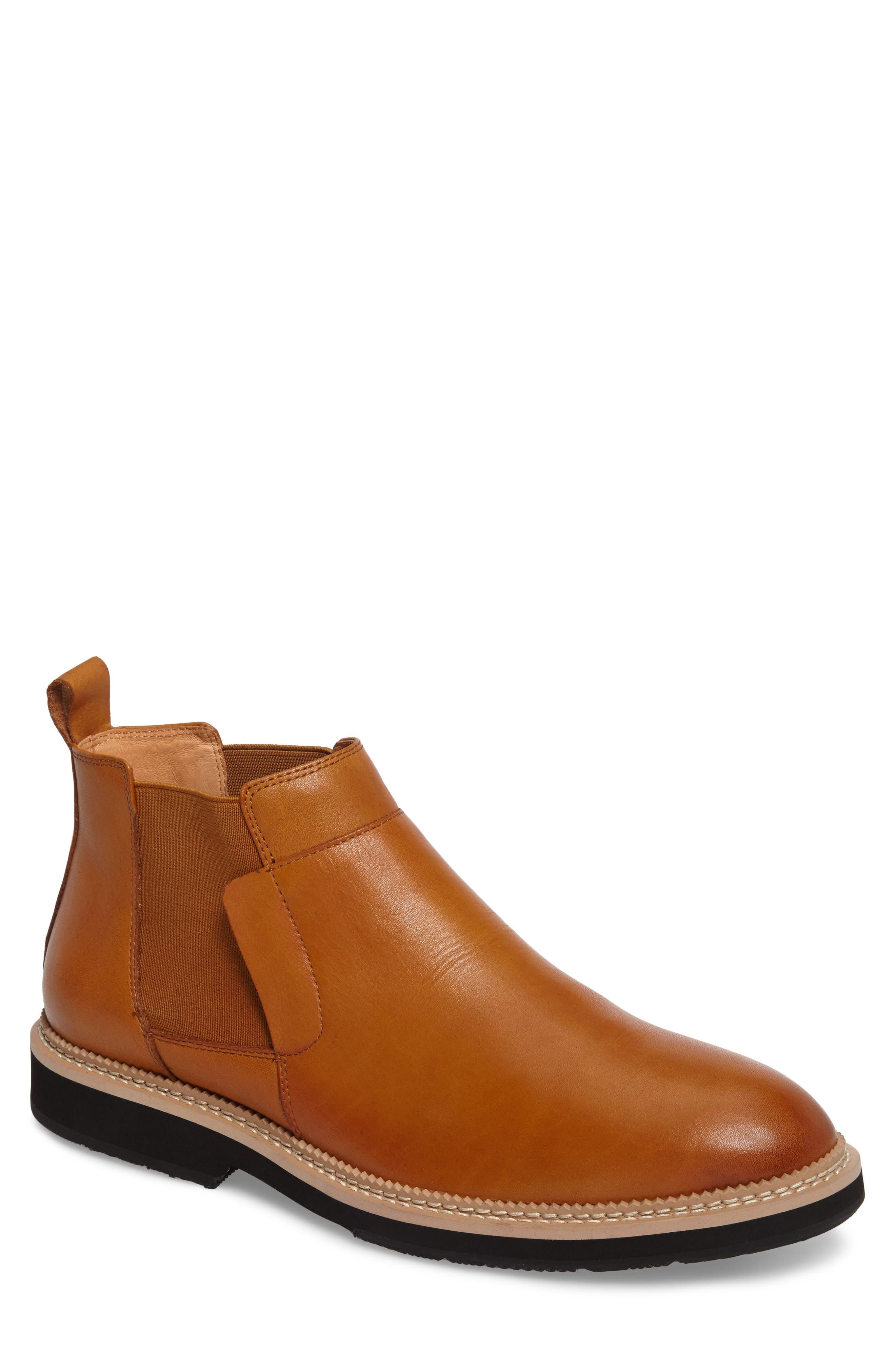 Garrad Chelsea Boot,                         Main,                         color, Cognac Leather