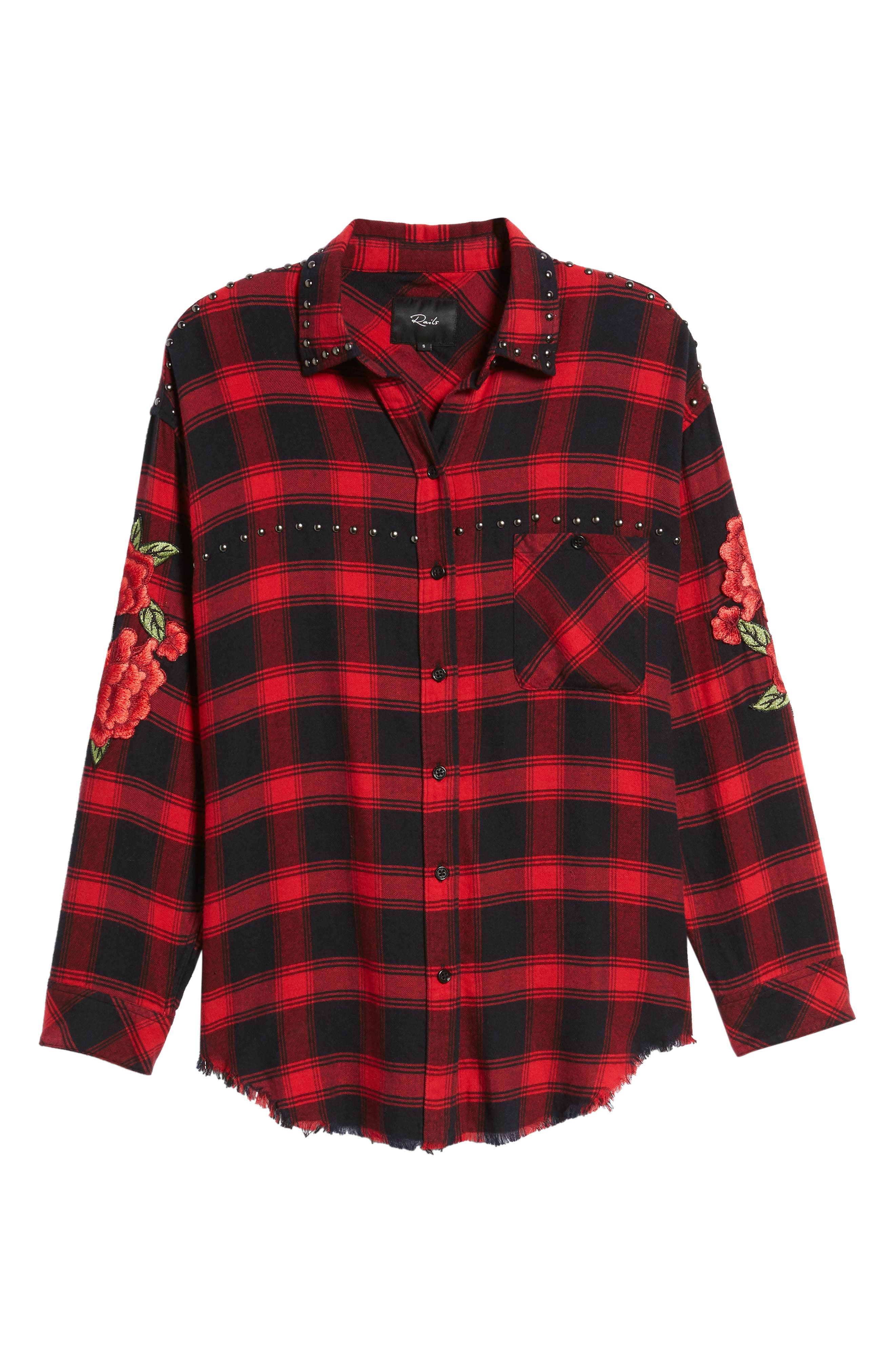 Alternate Image 6  - Rails Owen Studded Plaid Shirt