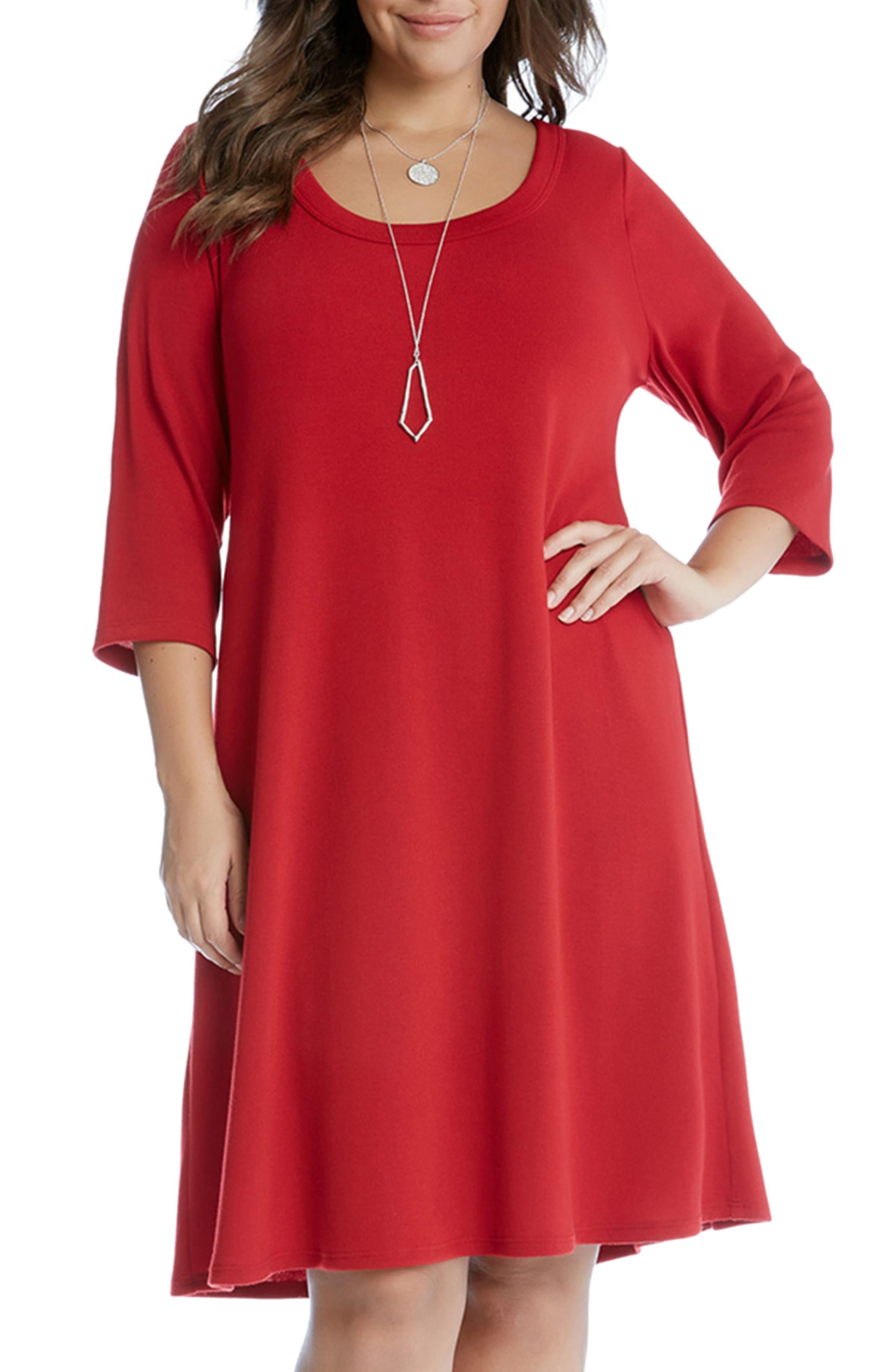 Karen Kane A-Line Dress (Plus Size)