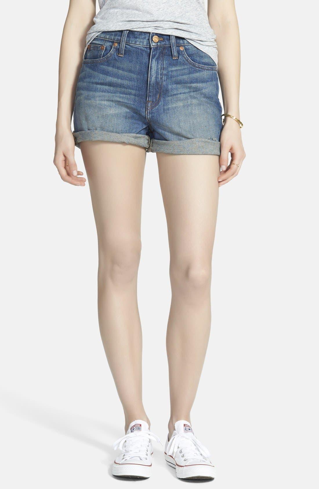 Main Image - Madewell High Rise Denim Shorts (Denver)