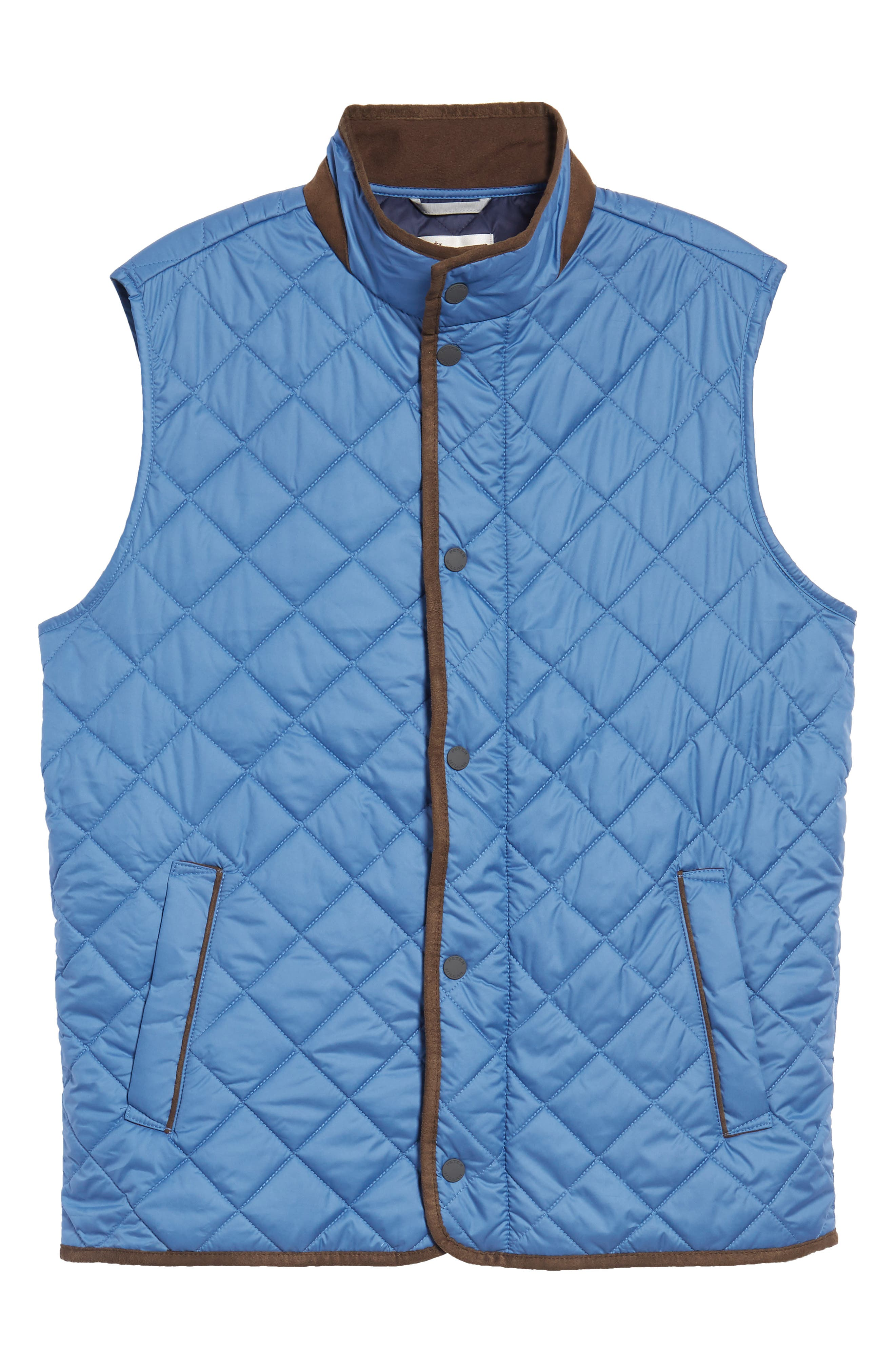 Essex Quilted Vest,                             Alternate thumbnail 6, color,                             Moon Blue