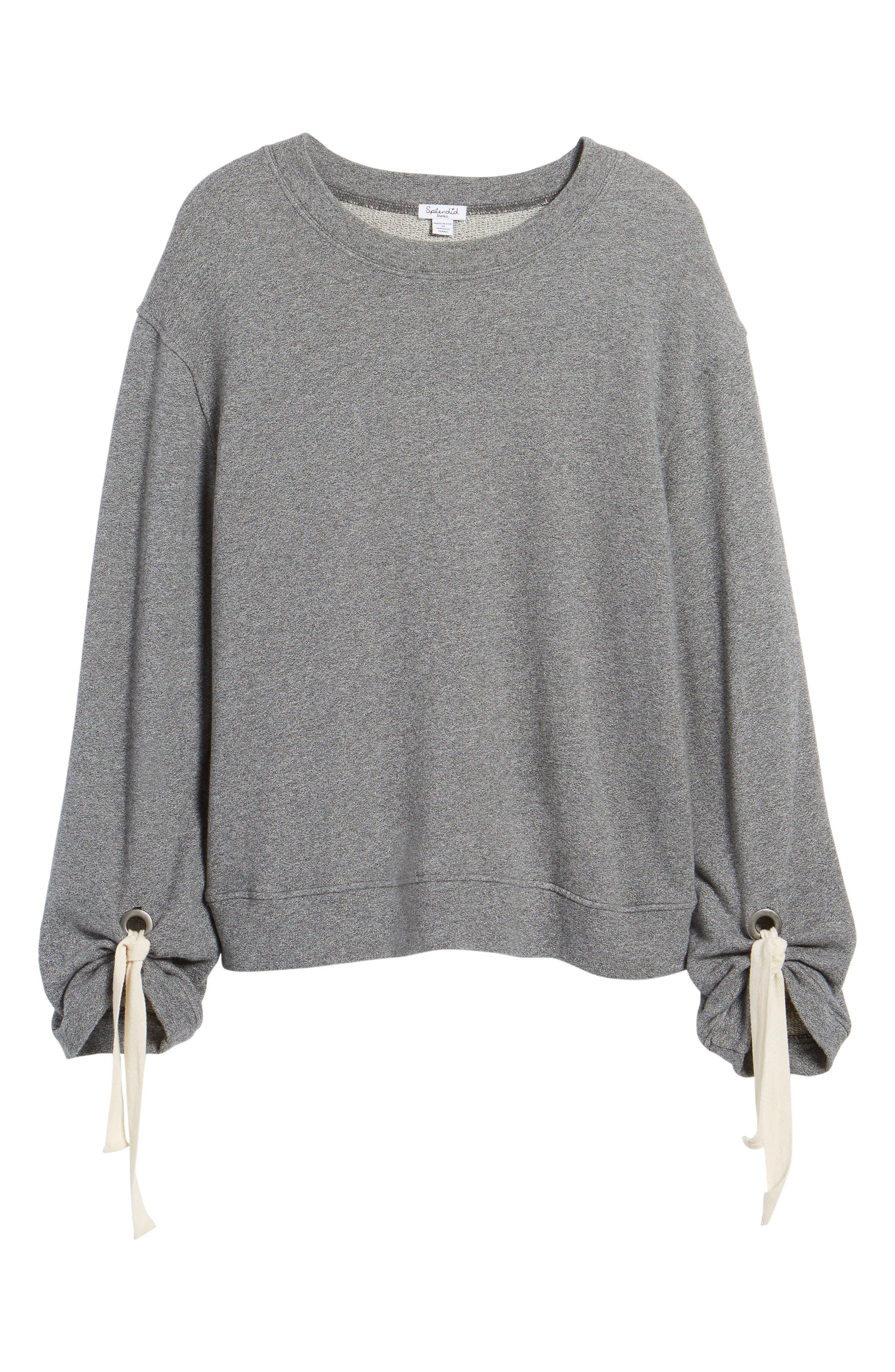 Alternate Image 6  - Splendid Tie Sleeve Sweater