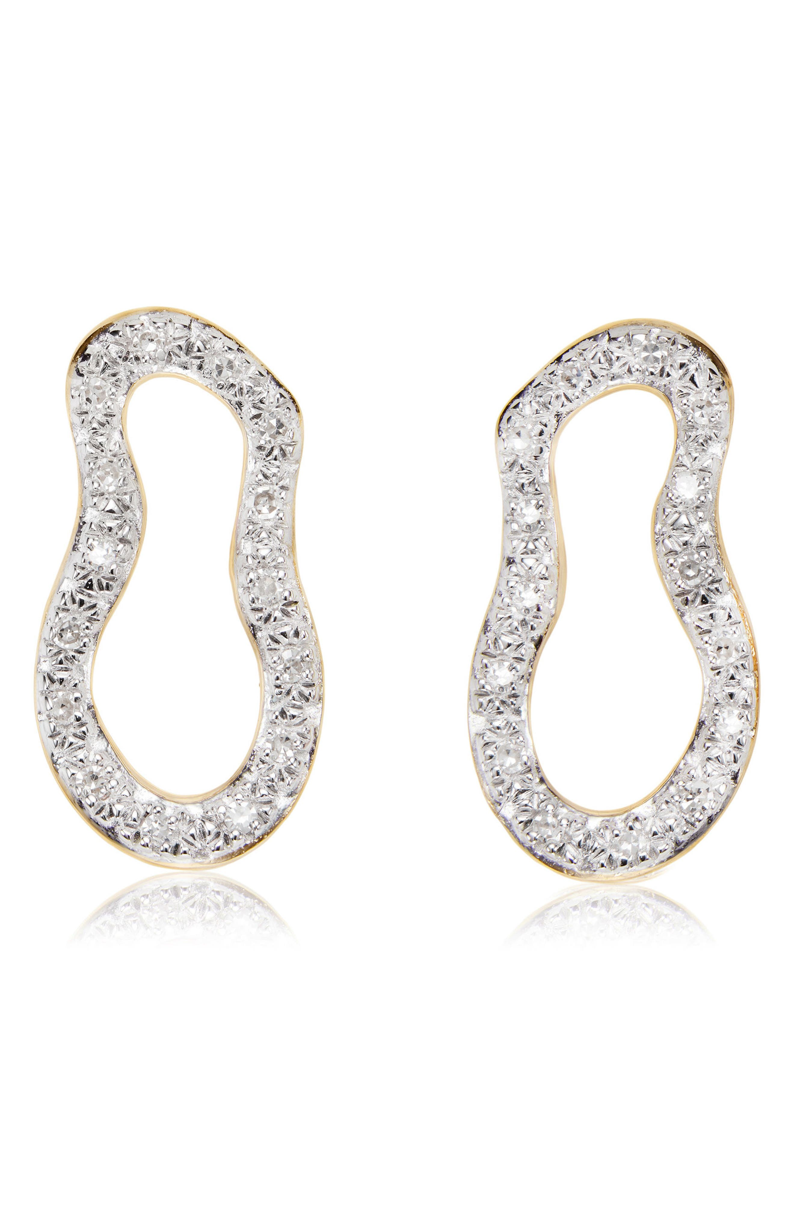 Main Image - Monica Vinader Riva Pod Diamond Drop Earrings