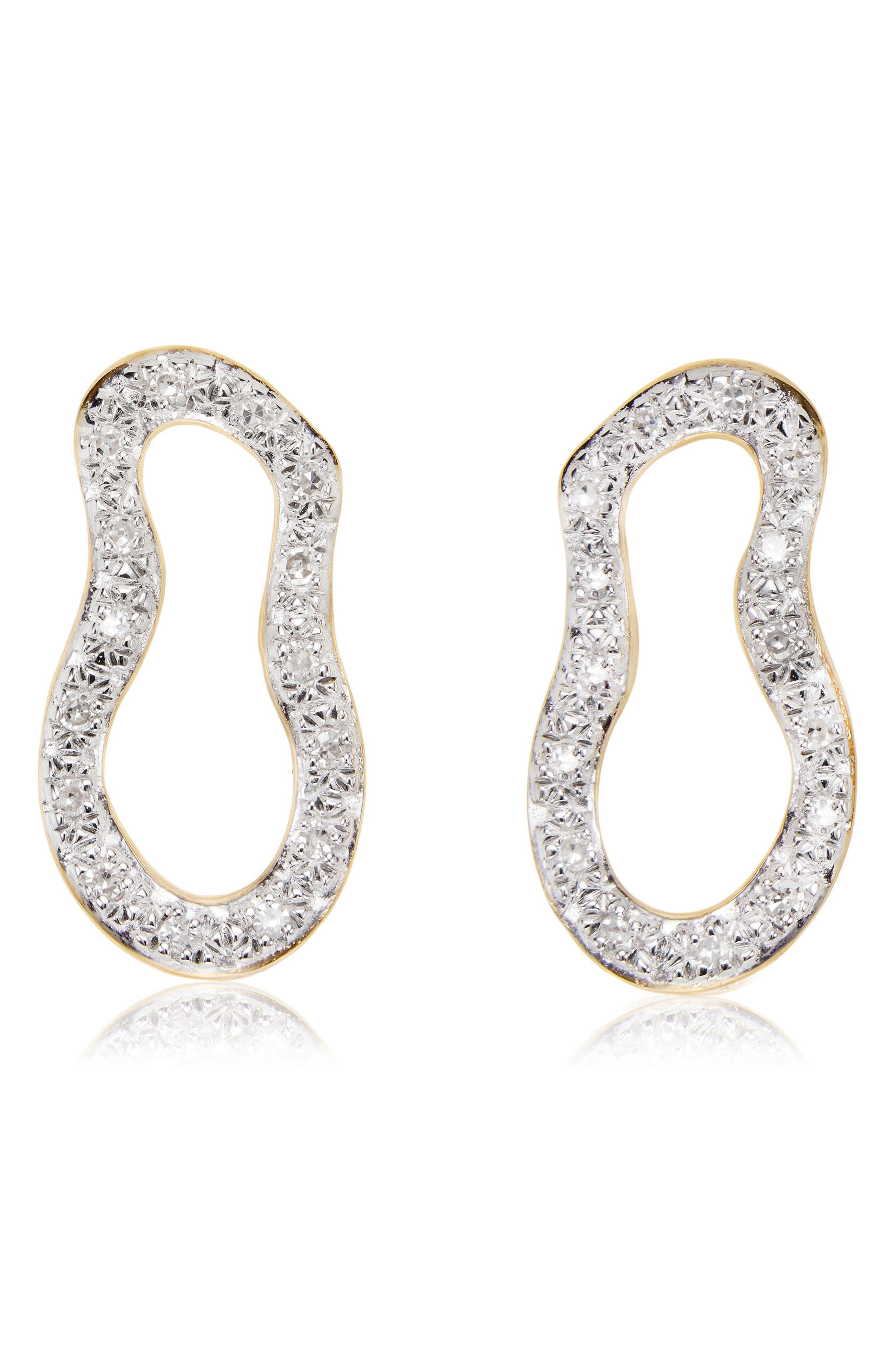 Monica Vinader Riva Pod Diamond Drop Earrings