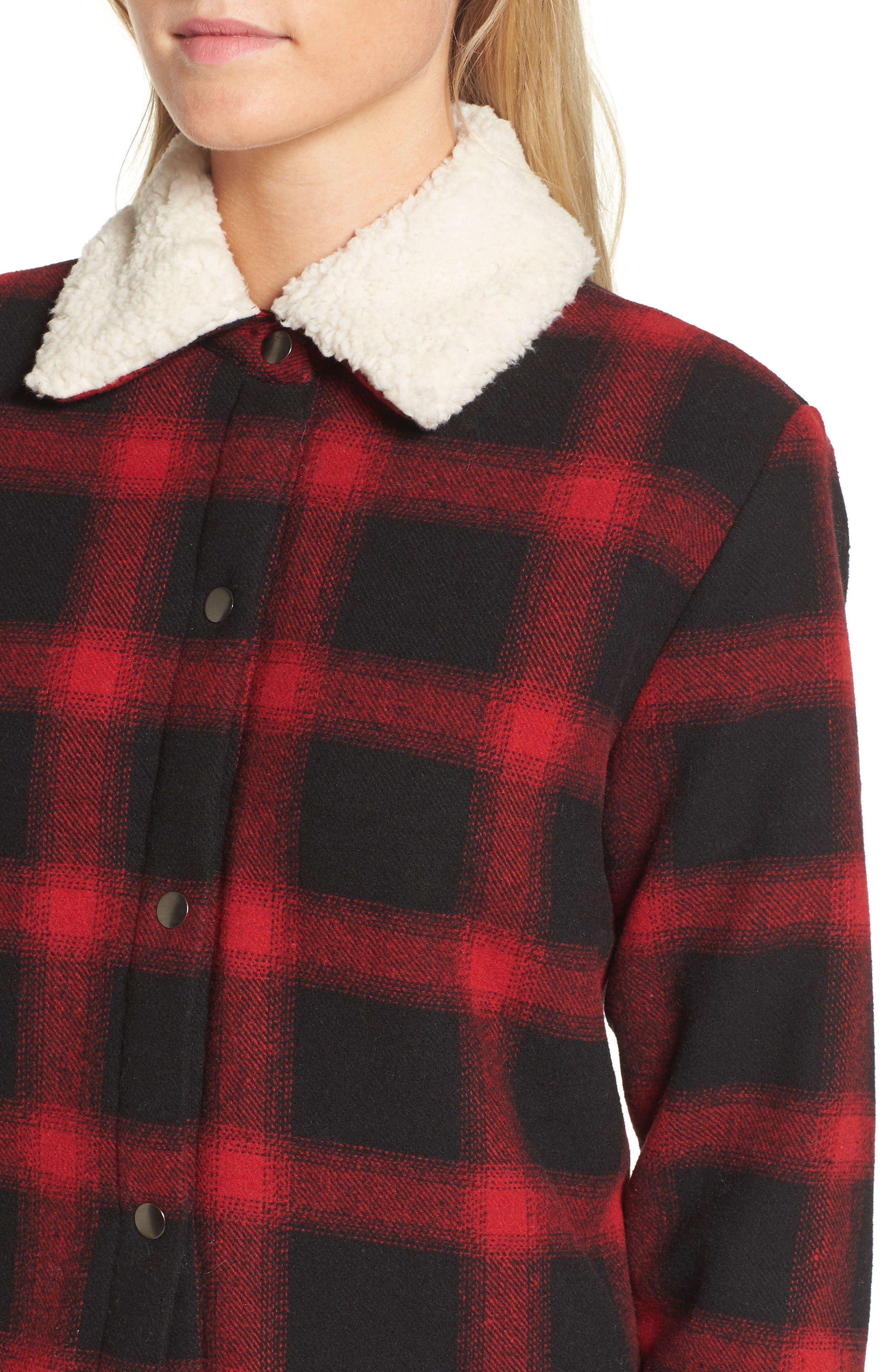 Alternate Image 4  - BB Dakota Bradley Fleece Lined Plaid Coat