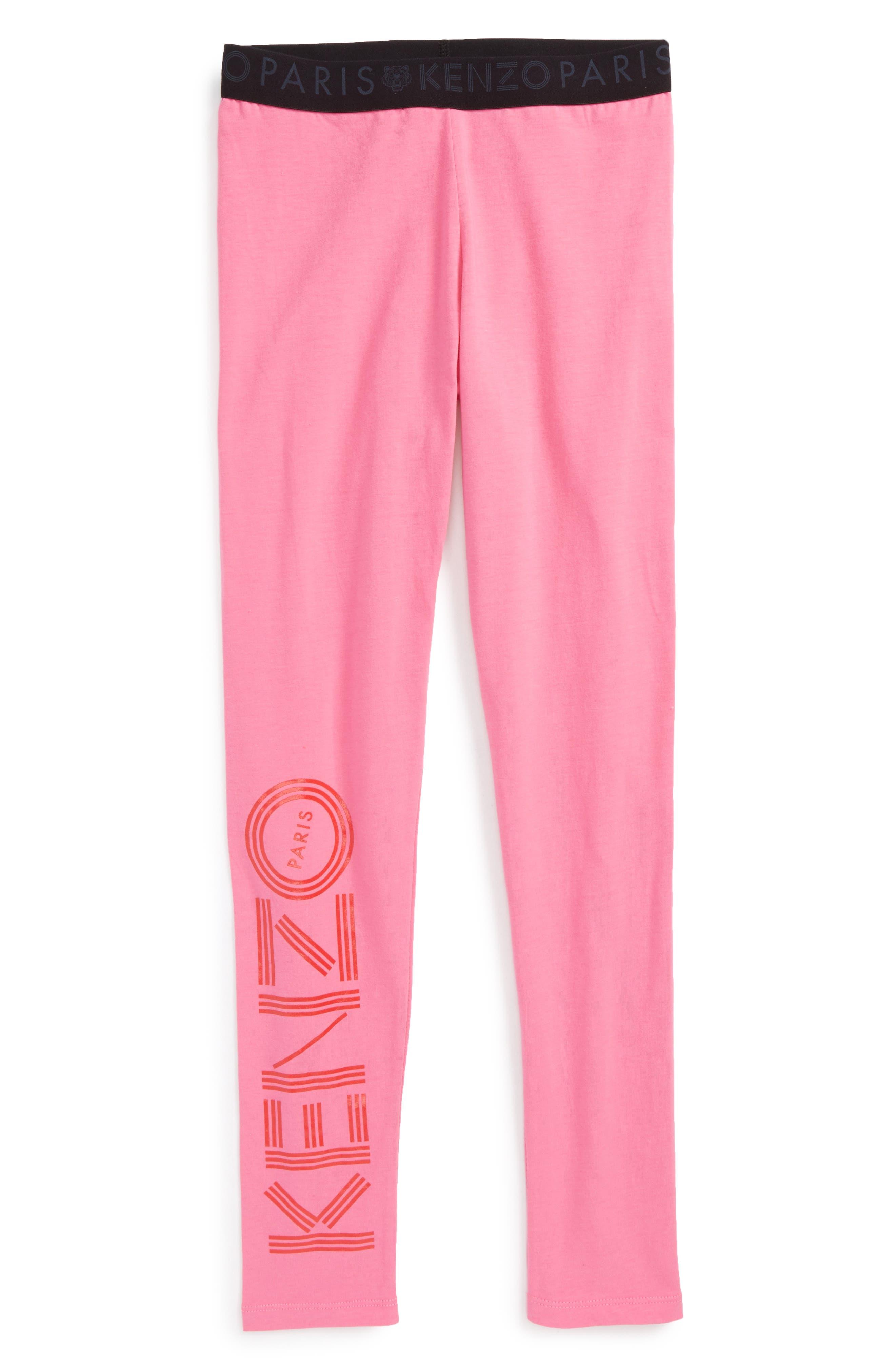 Logo Leggings,                         Main,                         color, Old Pink