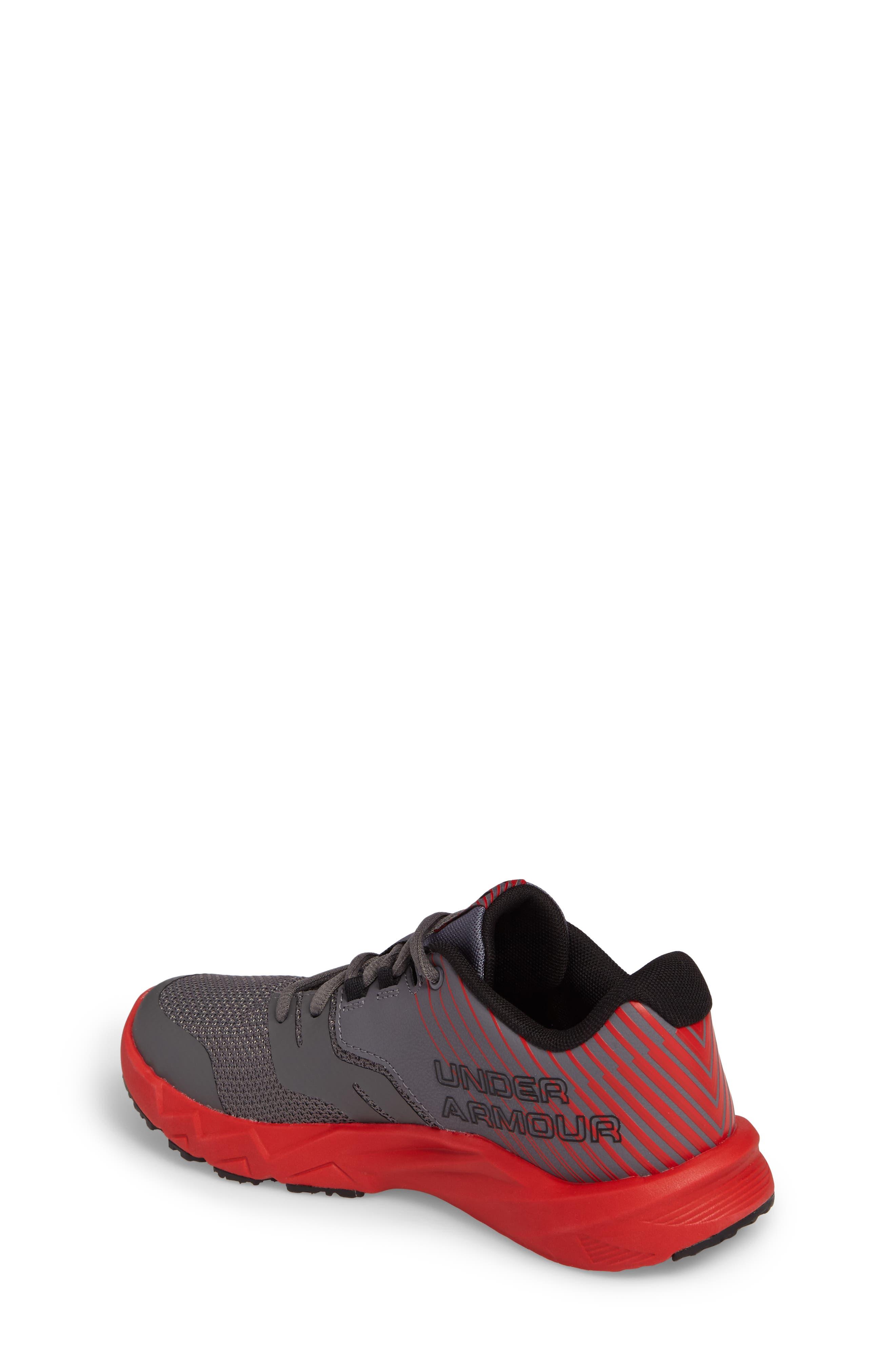 Grade School Primed 2 Running Shoe,                             Alternate thumbnail 2, color,                             Graphite/ Red/ Black