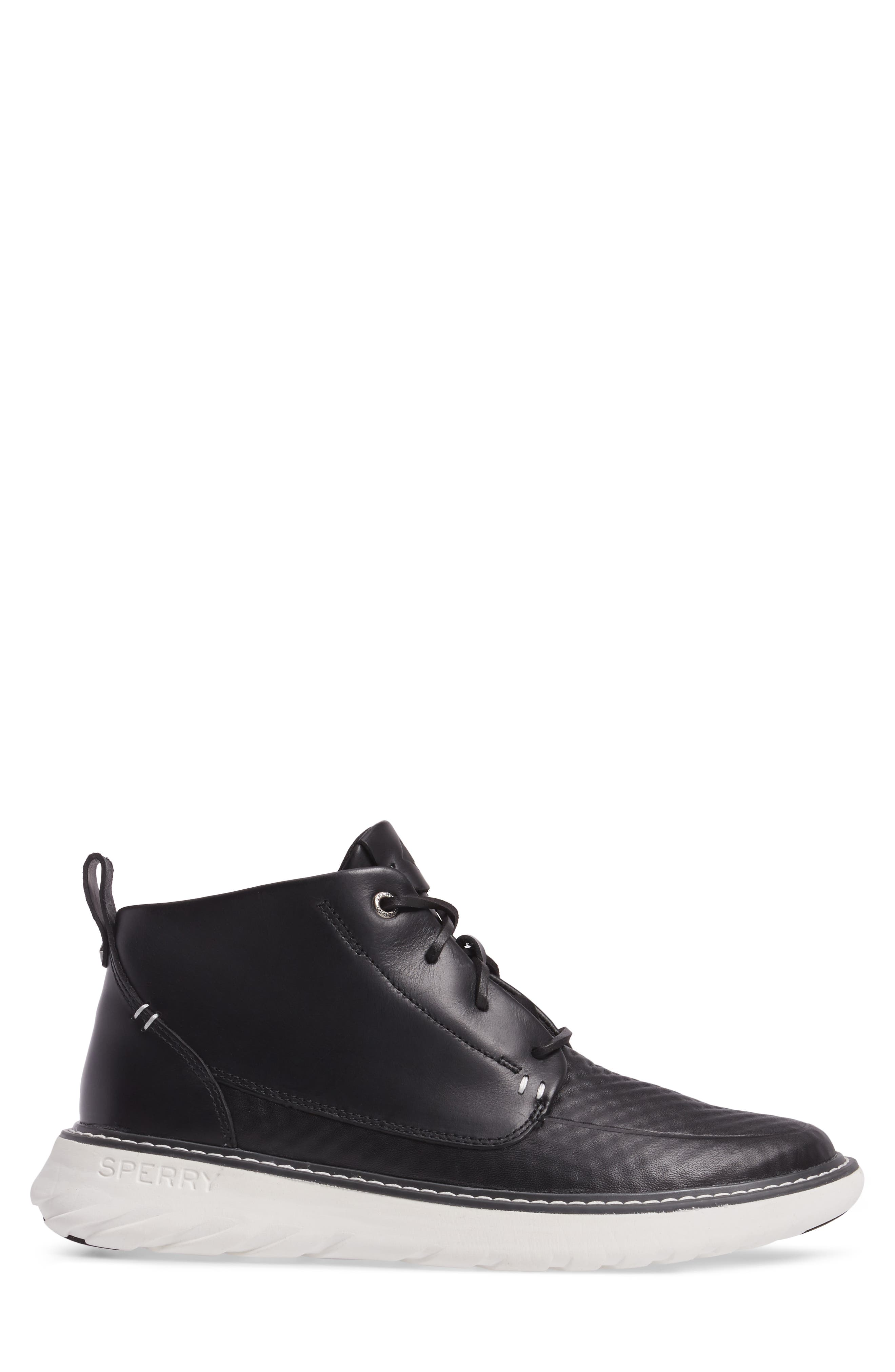 Element Chukka Boot,                             Alternate thumbnail 3, color,                             Black Leather