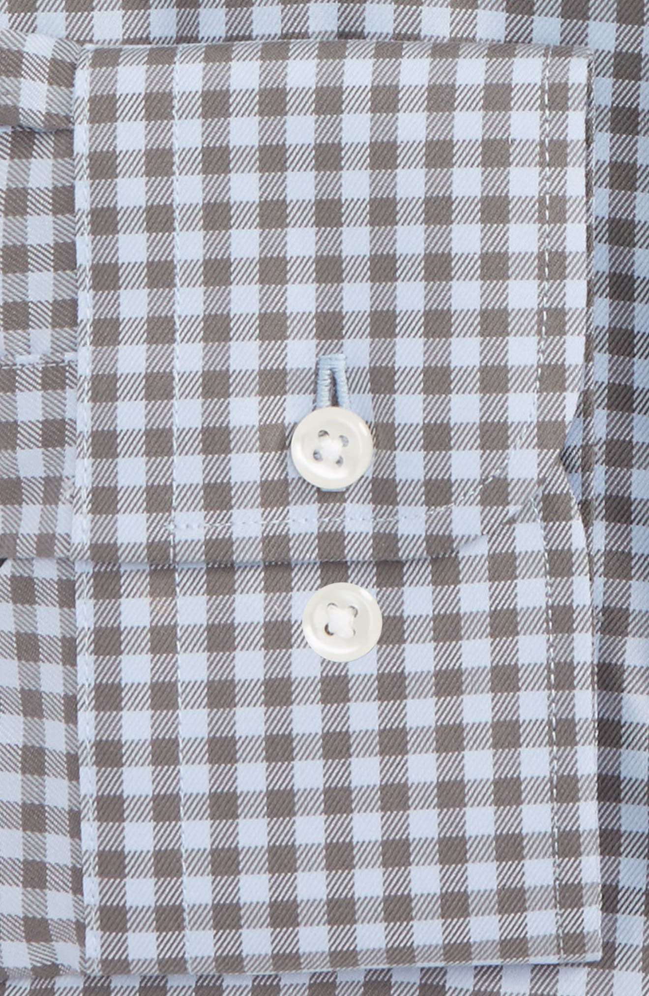 Alternate Image 2  - Nordstrom Men's Shop Trim Fit Non-Iron Gingham Dress Shirt