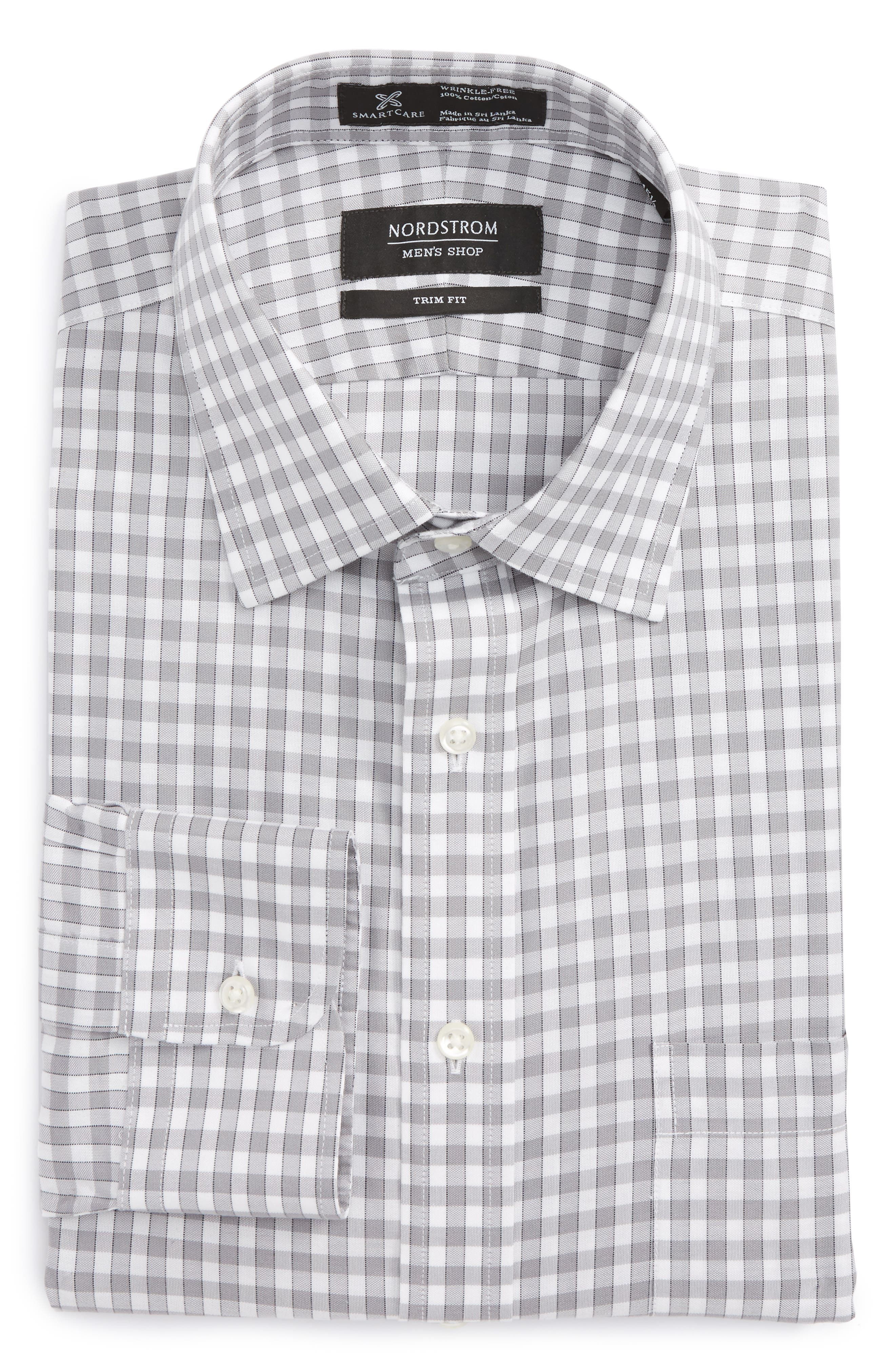Alternate Image 6  - Nordstrom Men's Shop Smartcare™ Trim Fit Check Dress Shirt