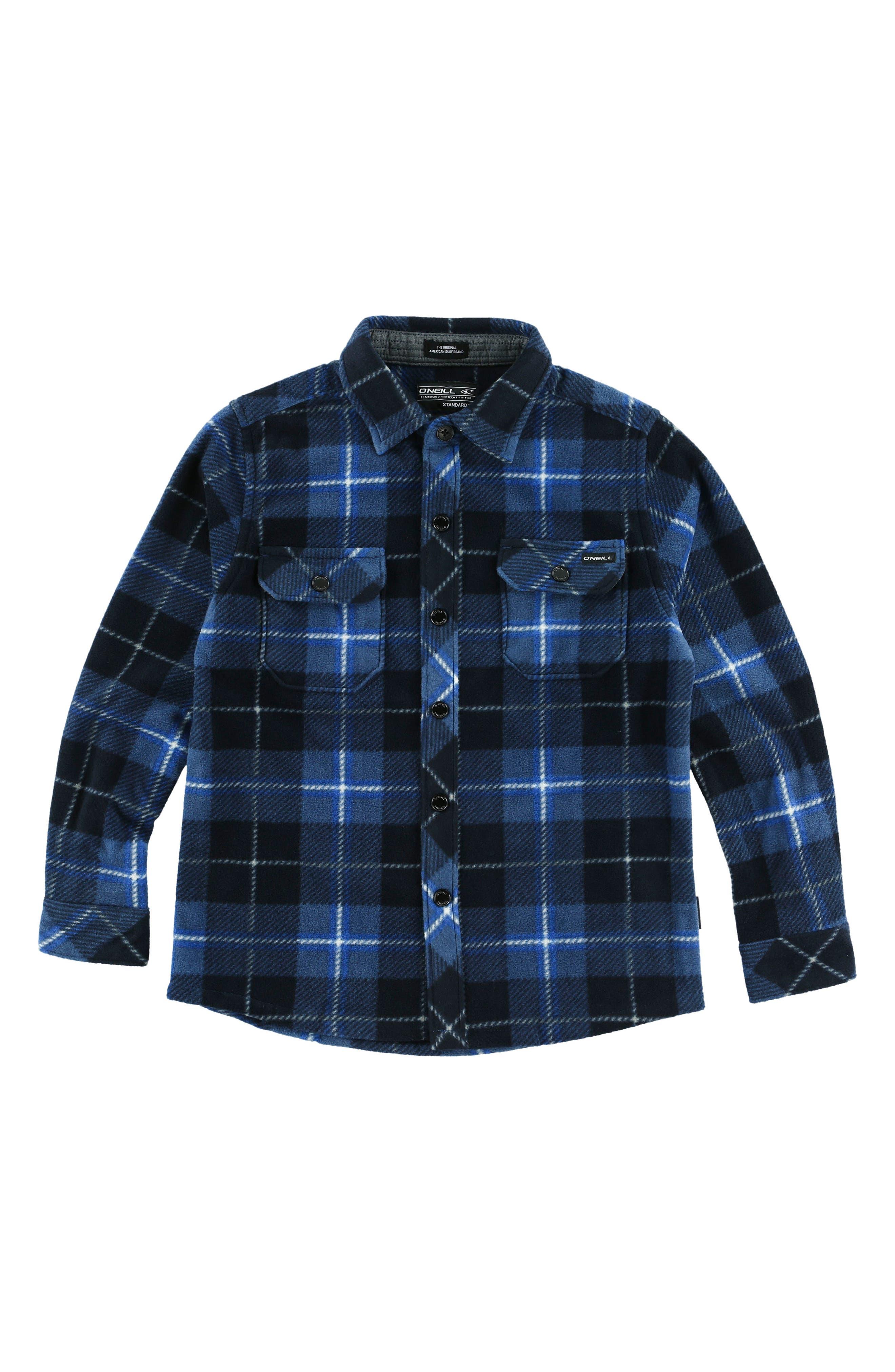 Glacier Plaid Shirt,                         Main,                         color, Ocean