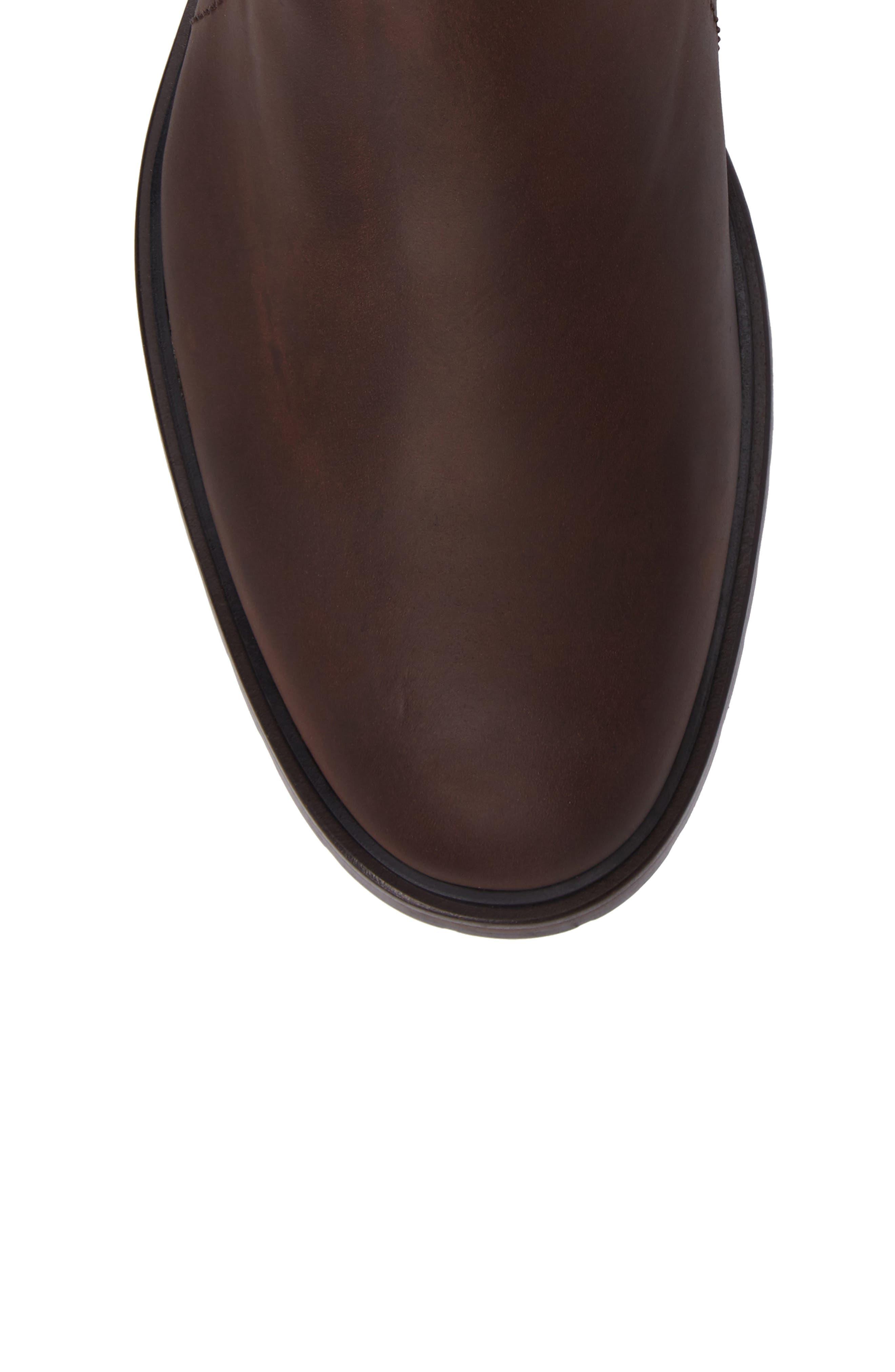 Myles Zip Boot,                             Alternate thumbnail 5, color,                             Dark Brown Leather