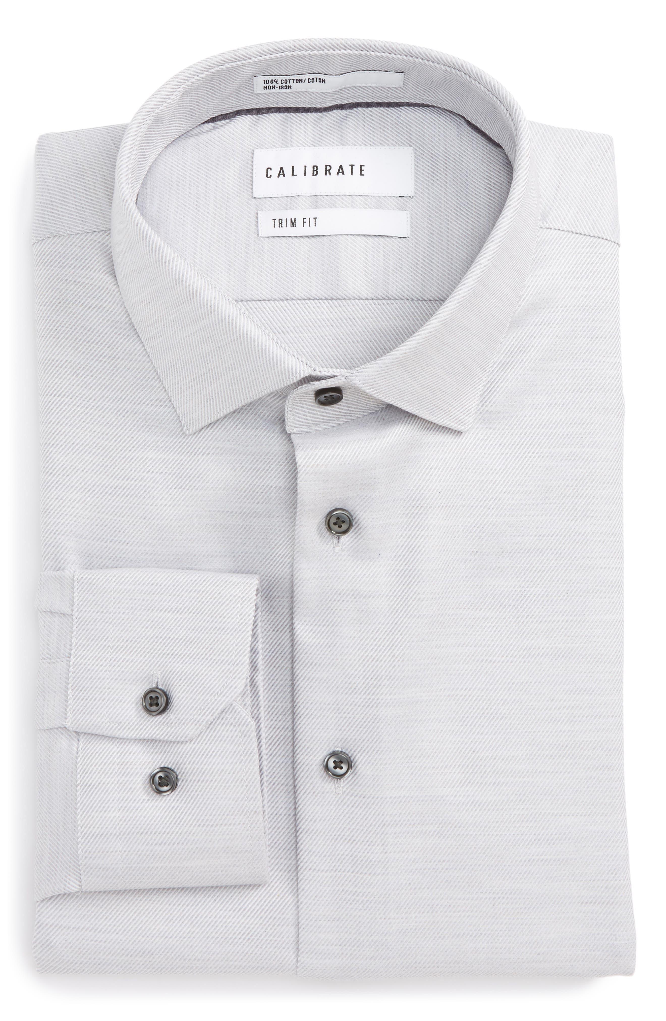 Alternate Image 1 Selected - Calibrate Trim Fit Twill Dress Shirt