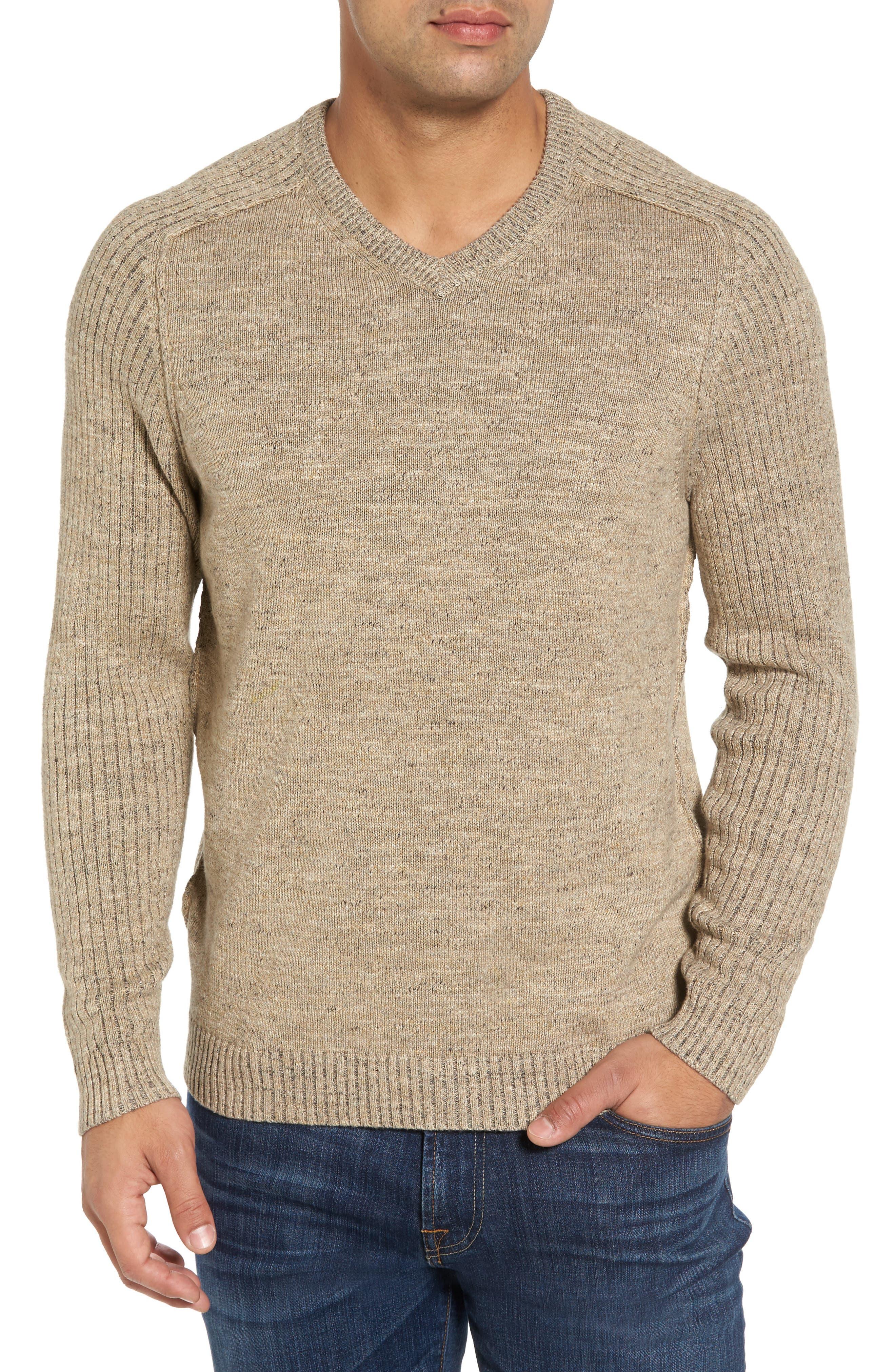 Main Image - Tommy Bahama Gran Rey Flip Reversible Cotton & Wool Sweater