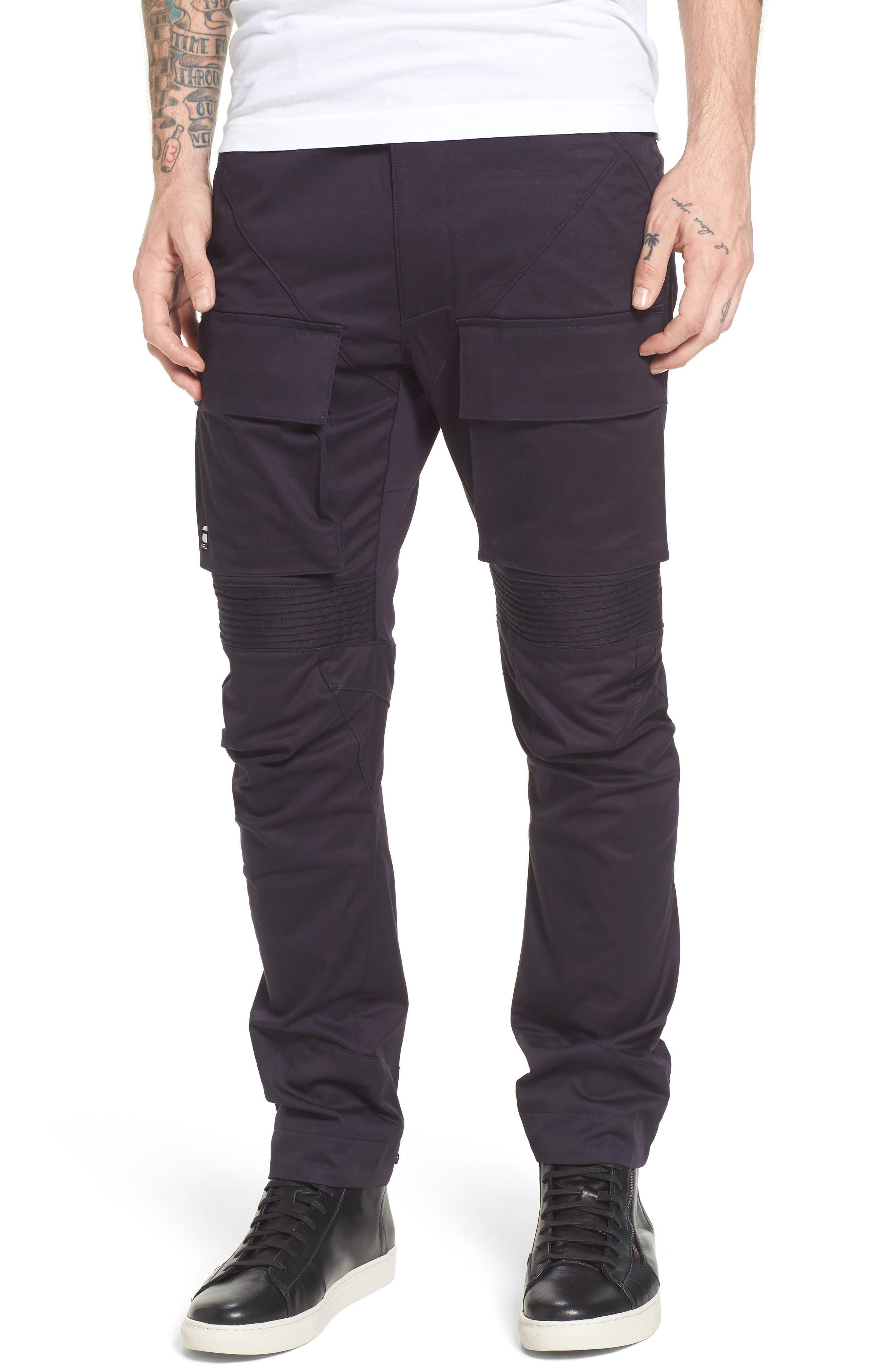 Vodan DC Slim Pants,                         Main,                         color, Dark Naval Blue