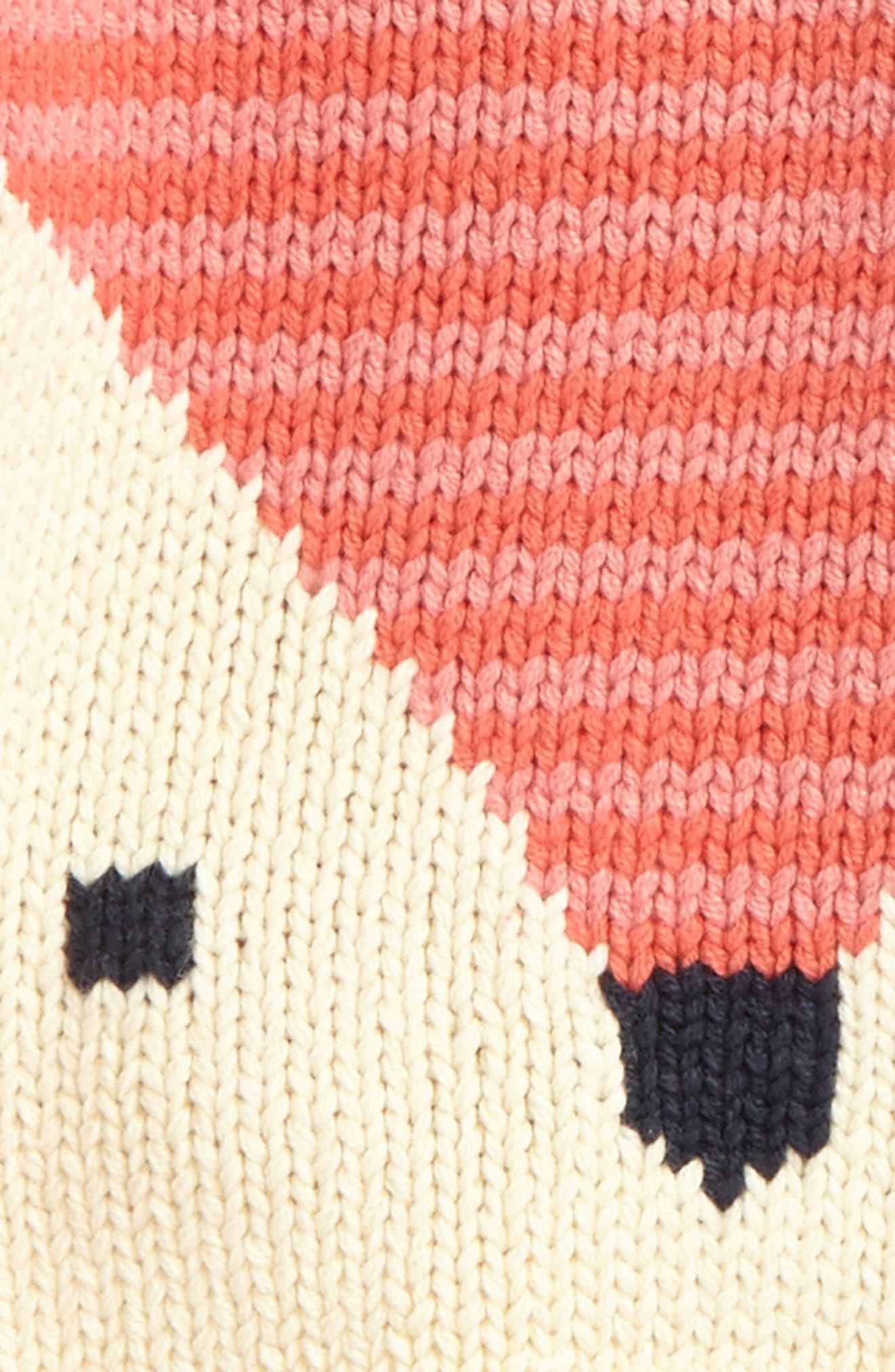 Fox Sweater,                             Alternate thumbnail 2, color,                             Sorbet