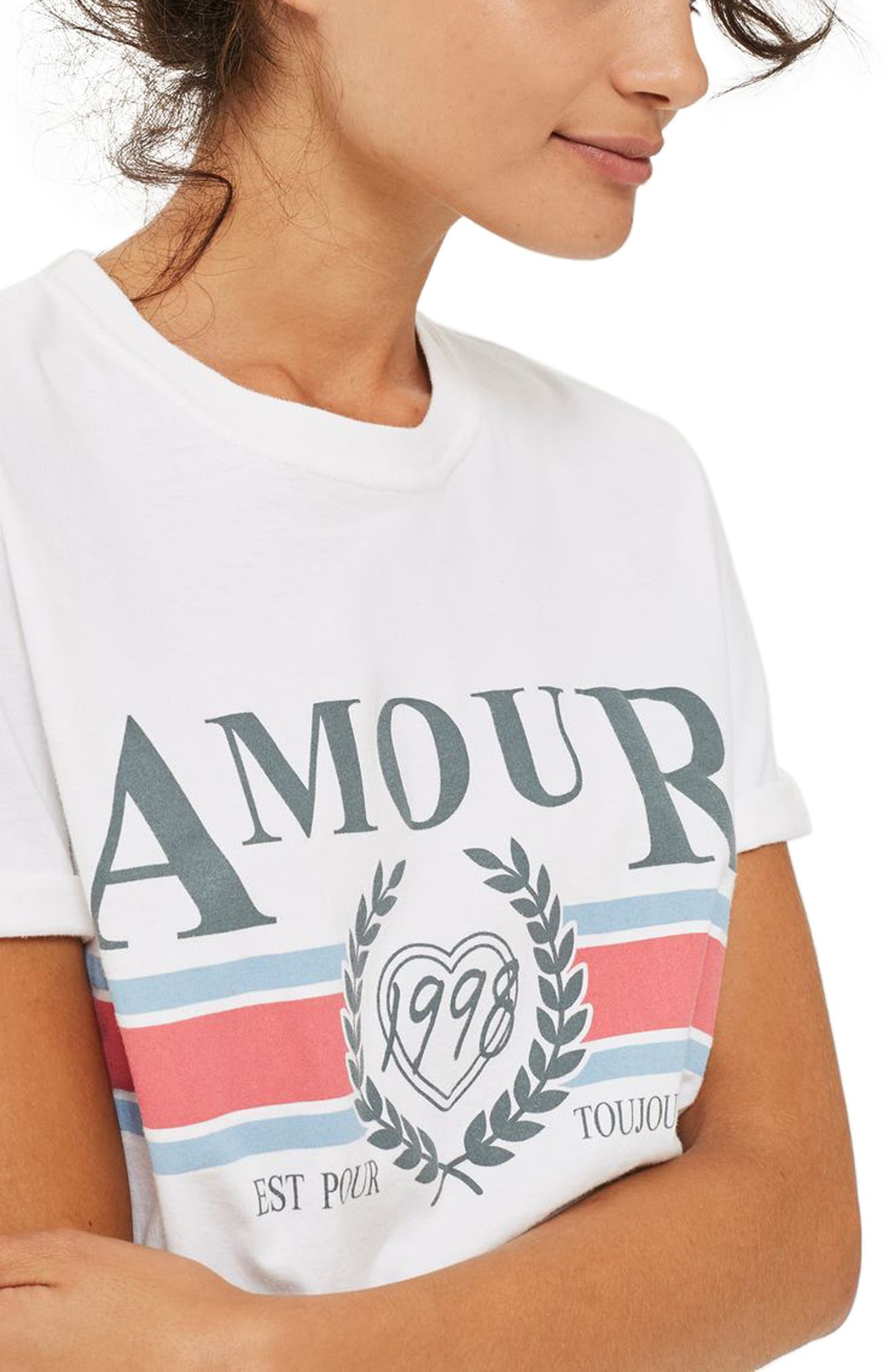 Alternate Image 3  - Topshop Amour Graphic Tee