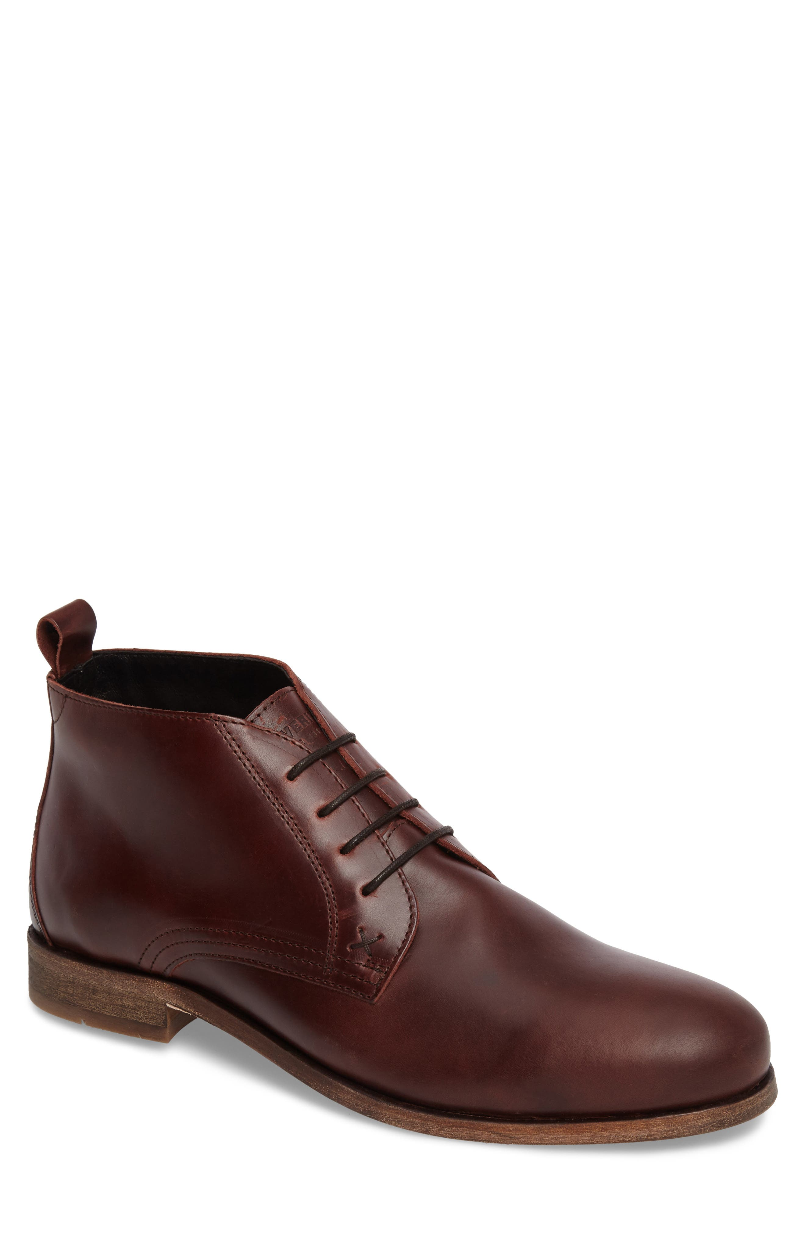 Deacon Chukka Boot,                         Main,                         color, Brown Leather