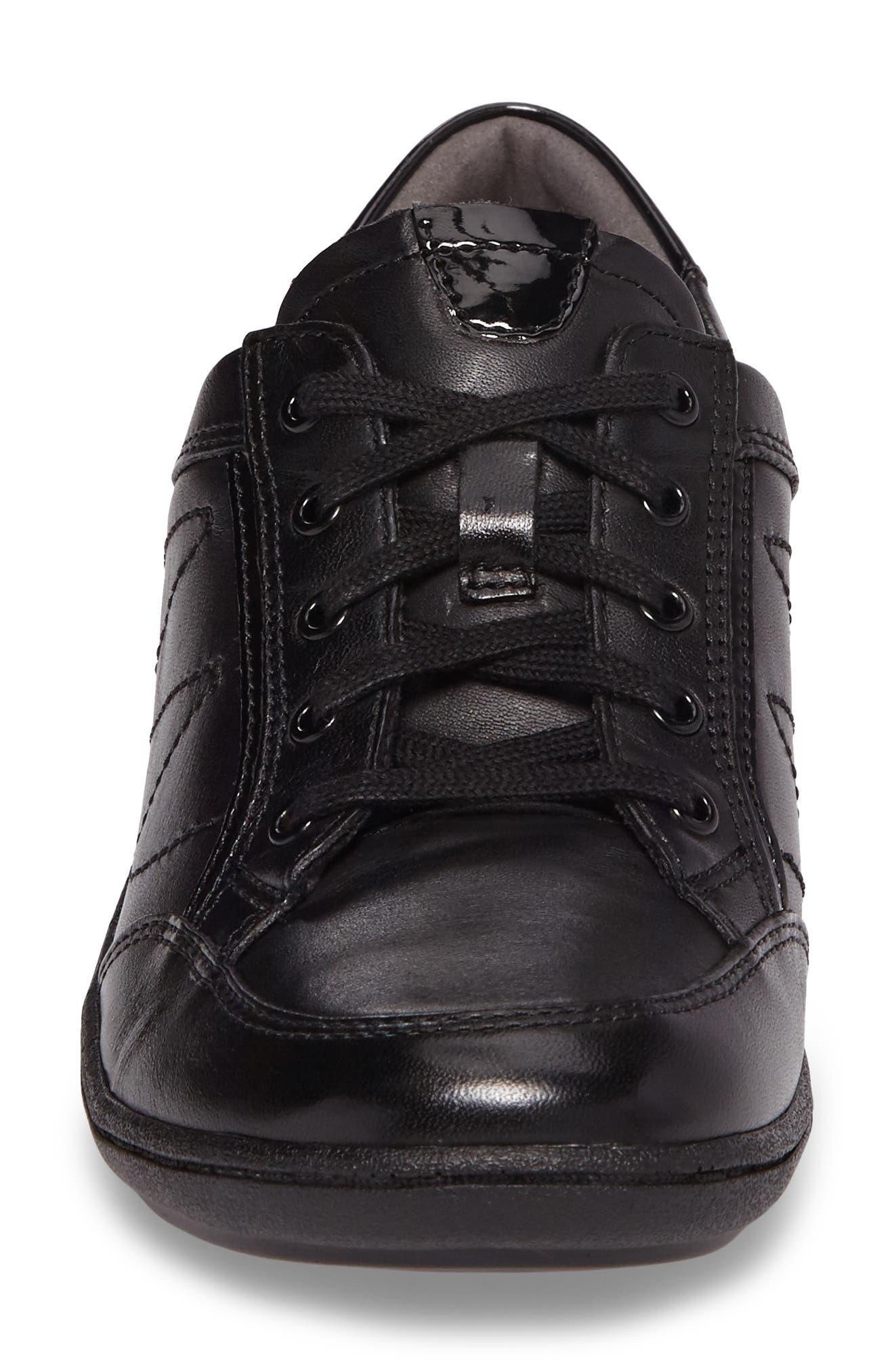 Bromly Sneaker,                             Alternate thumbnail 4, color,                             Black Leather