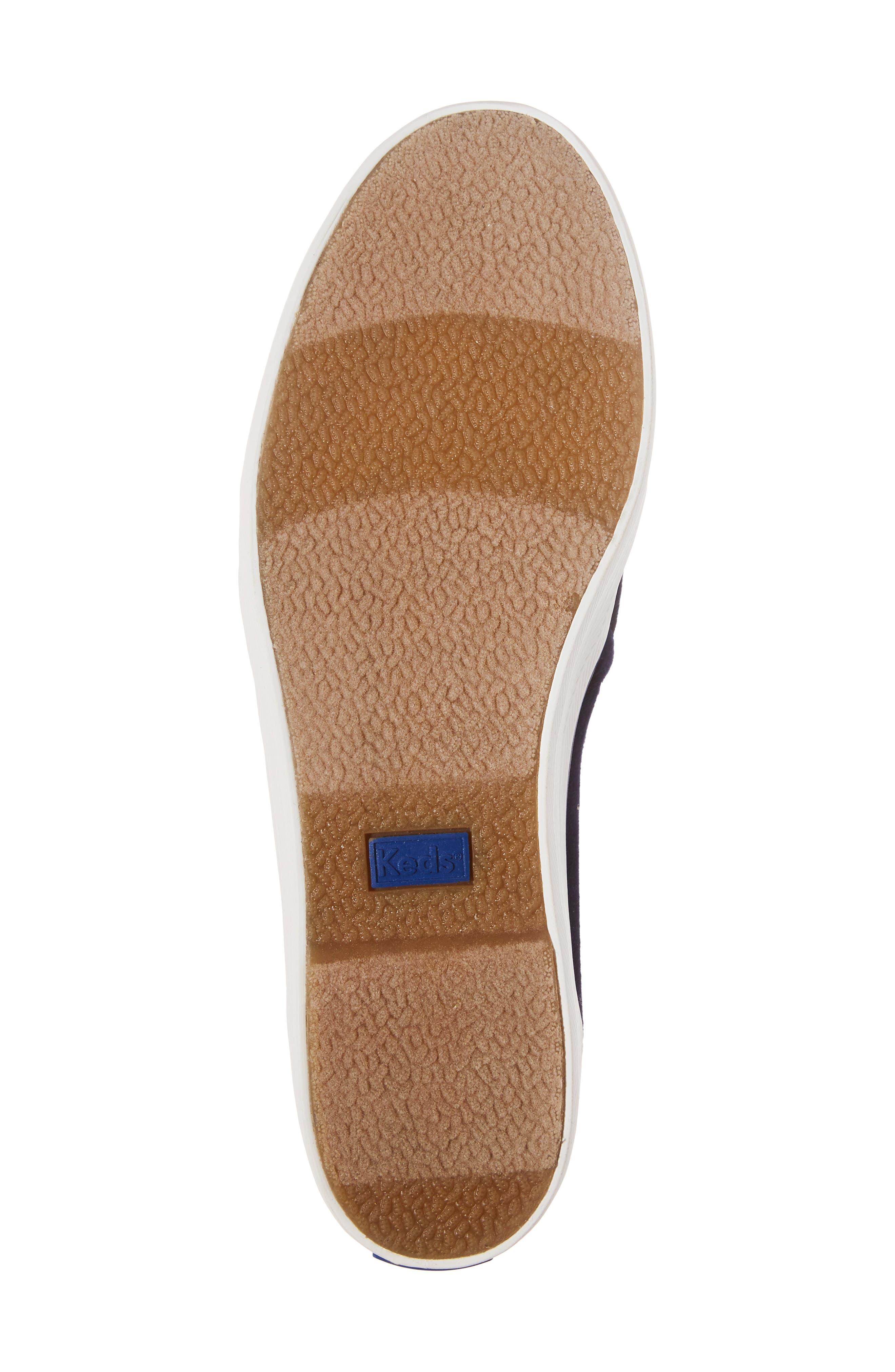 Triple Decker Slip-On Platform Sneaker,                             Alternate thumbnail 6, color,                             Navy Velvet