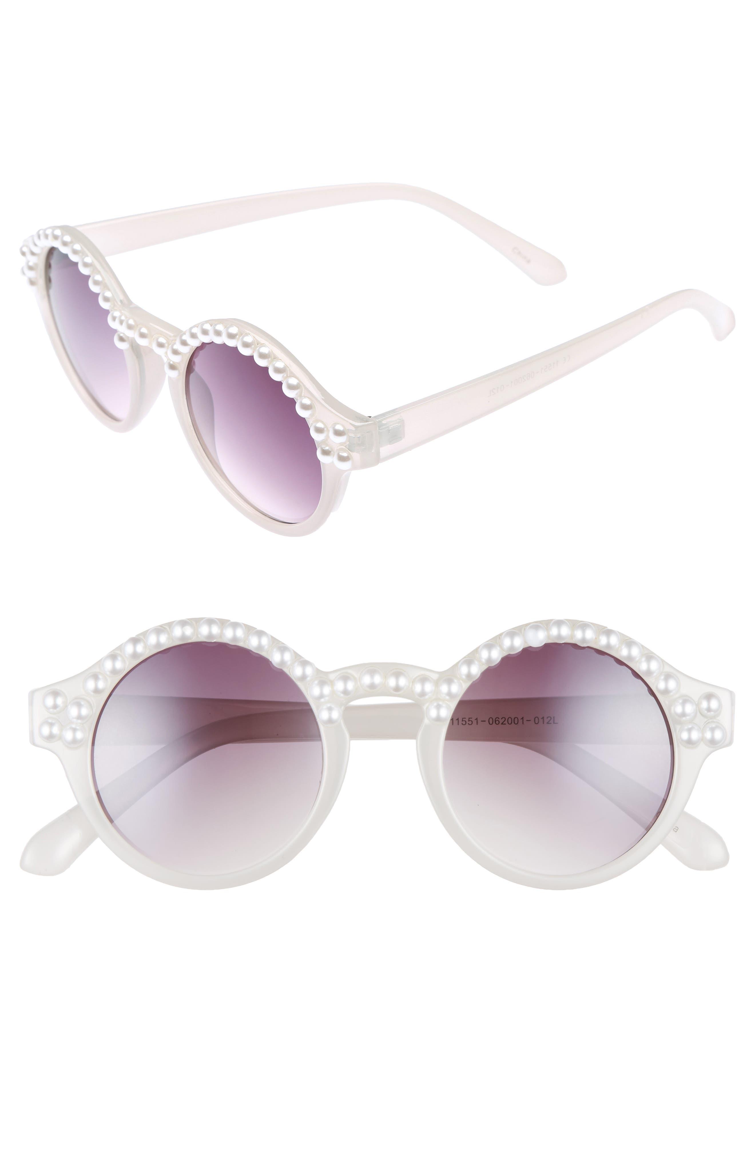 Alternate Image 1 Selected - BP. 45mm Imitation Pearl Round Sunglasses