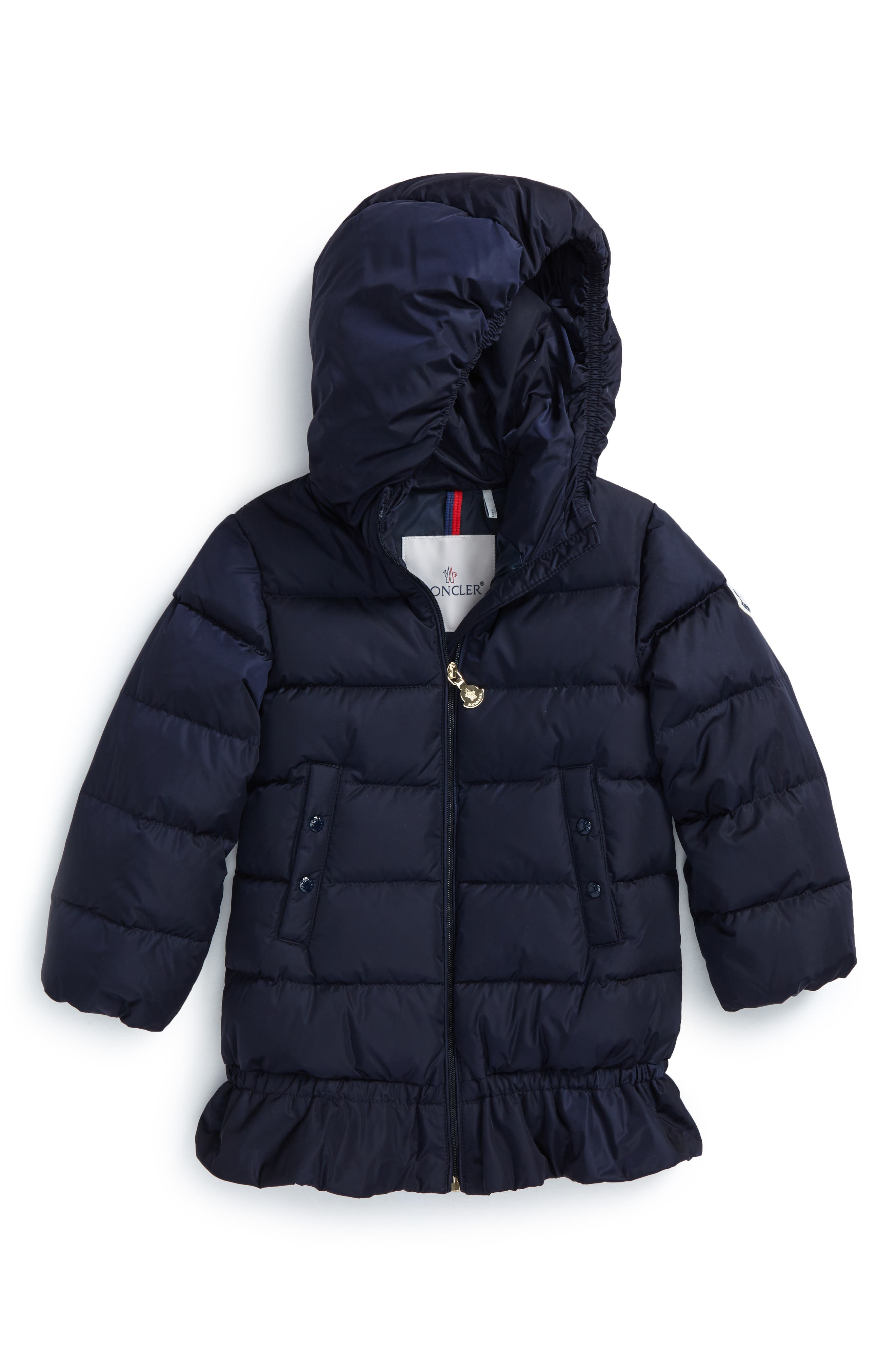 Alternate Image 1 Selected - Moncler Azinza Hooded Down Jacket (Baby Girls & Toddler Girls)