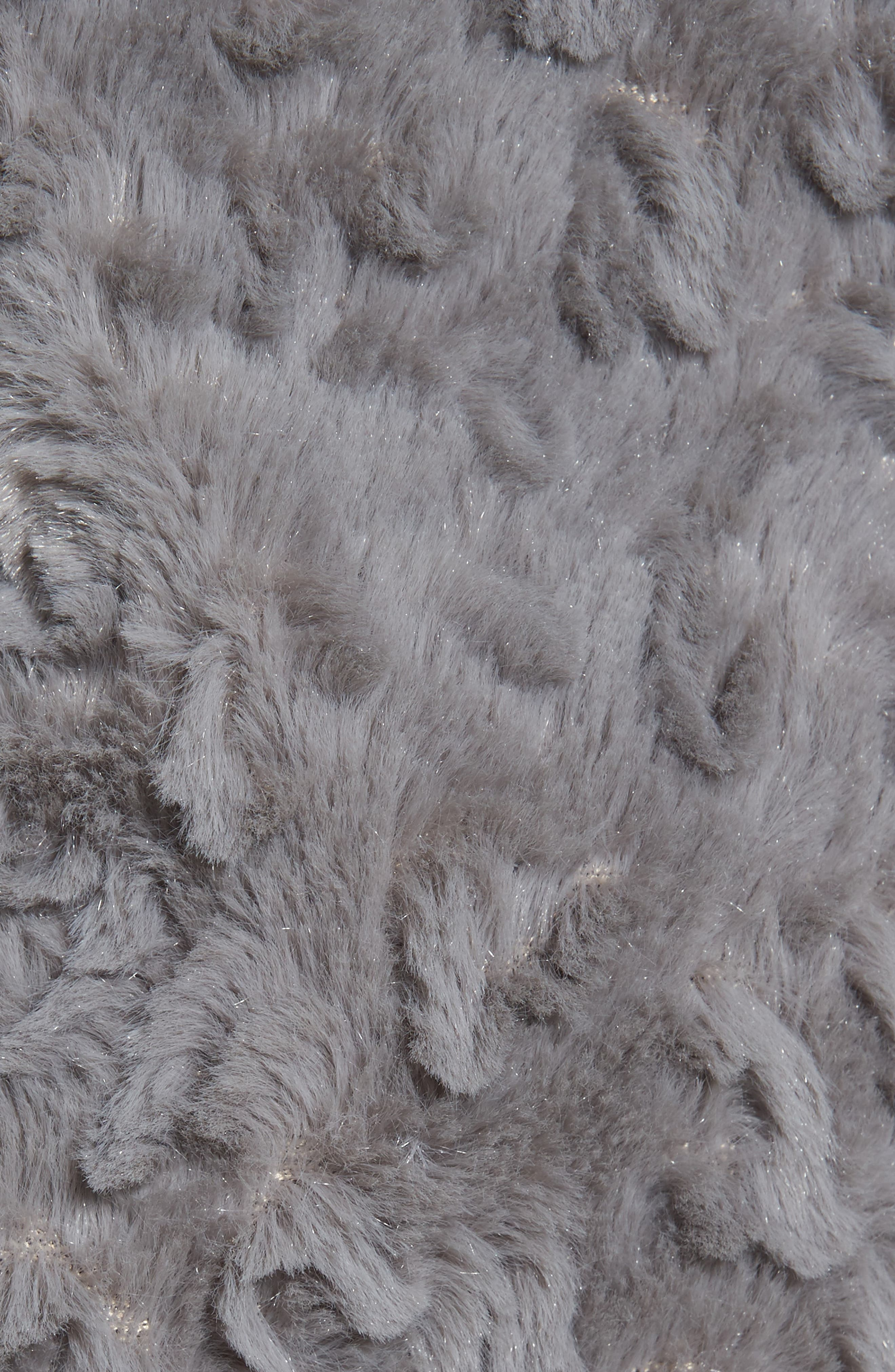 Faux Fur Coat,                             Alternate thumbnail 5, color,                             Grey