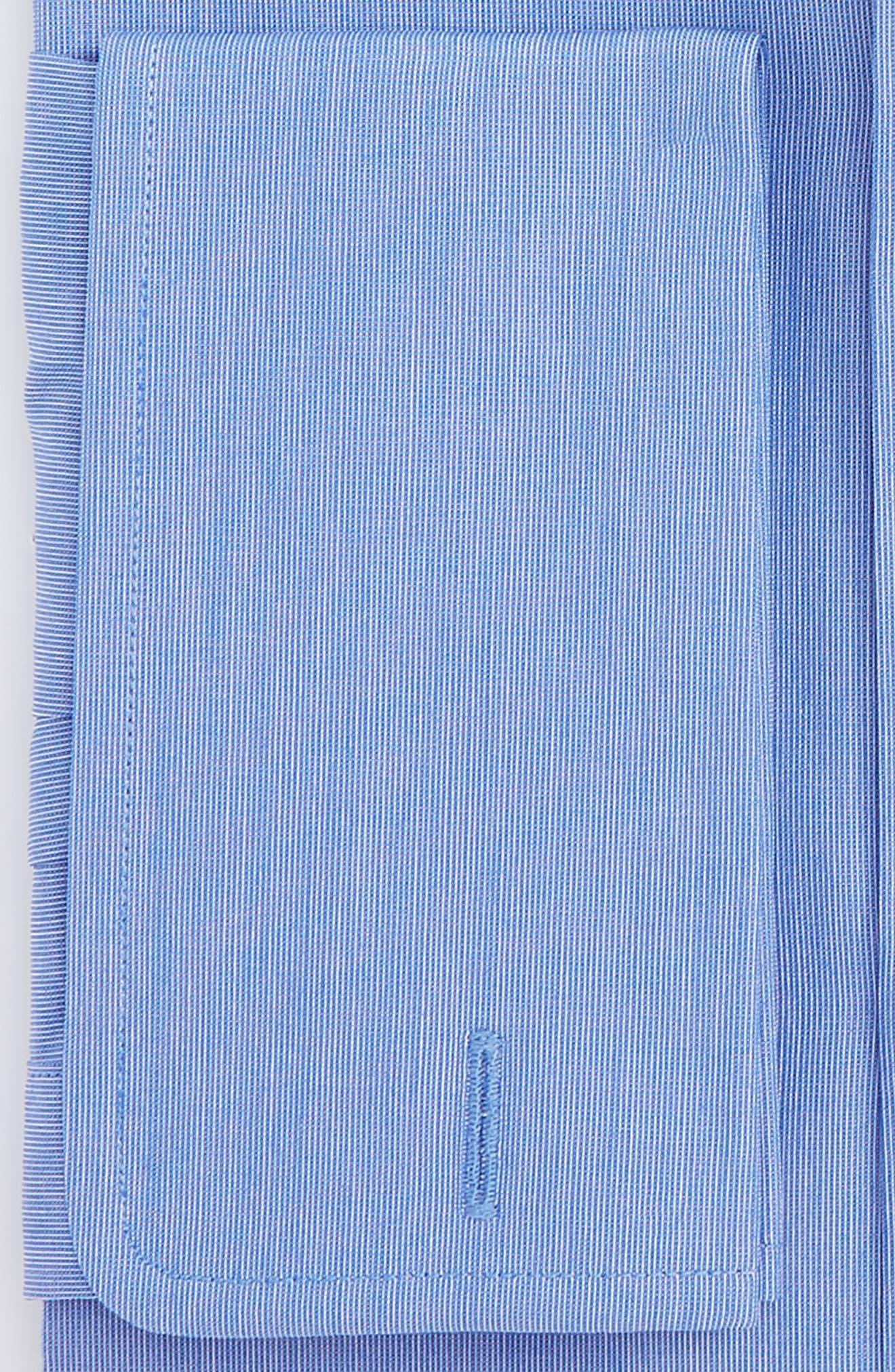 Regular Fit Solid Dress Shirt,                             Alternate thumbnail 2, color,                             Blue