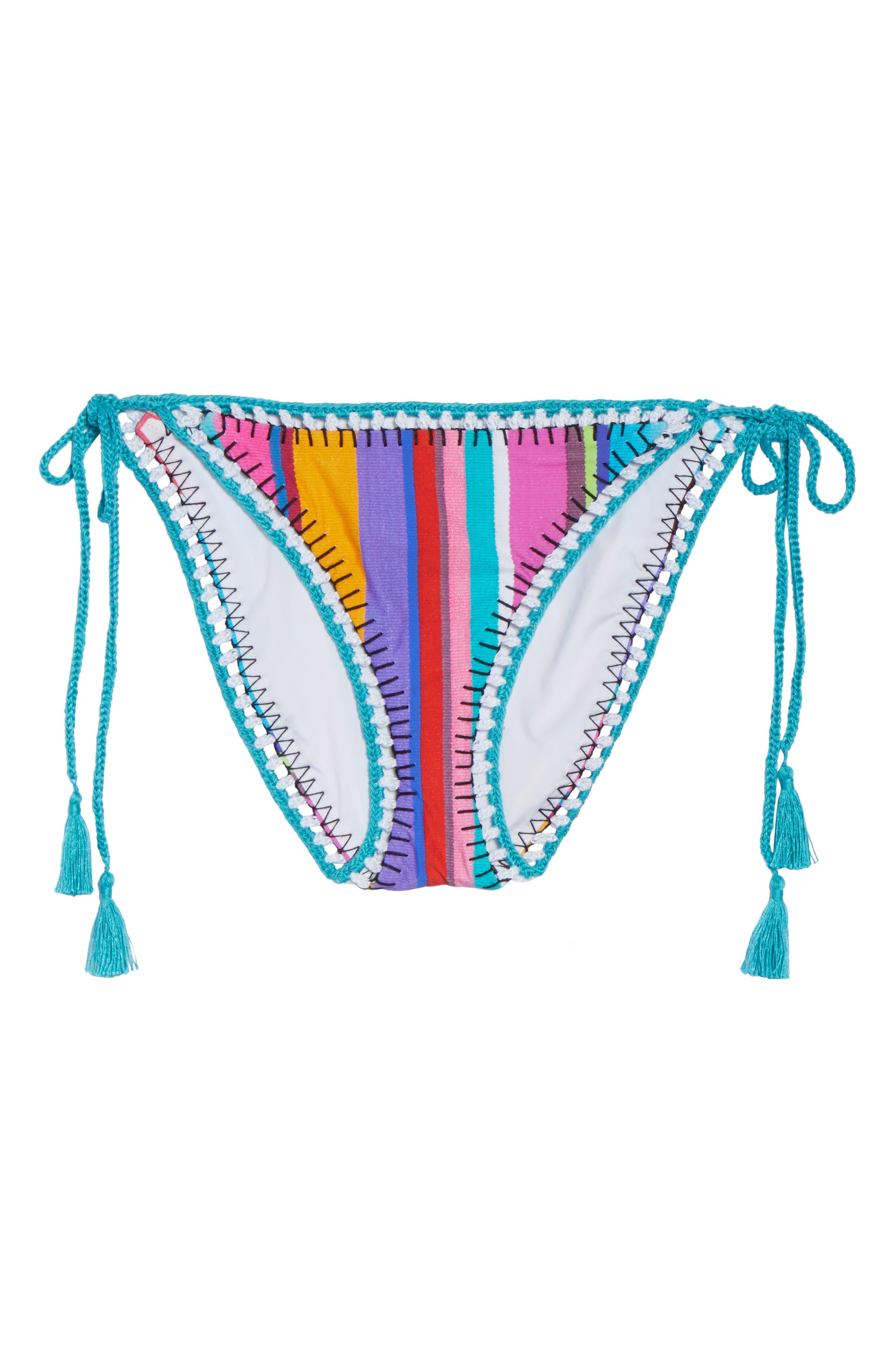 Sayulita Vamp Bikini Bottoms,                             Alternate thumbnail 6, color,                             Multi