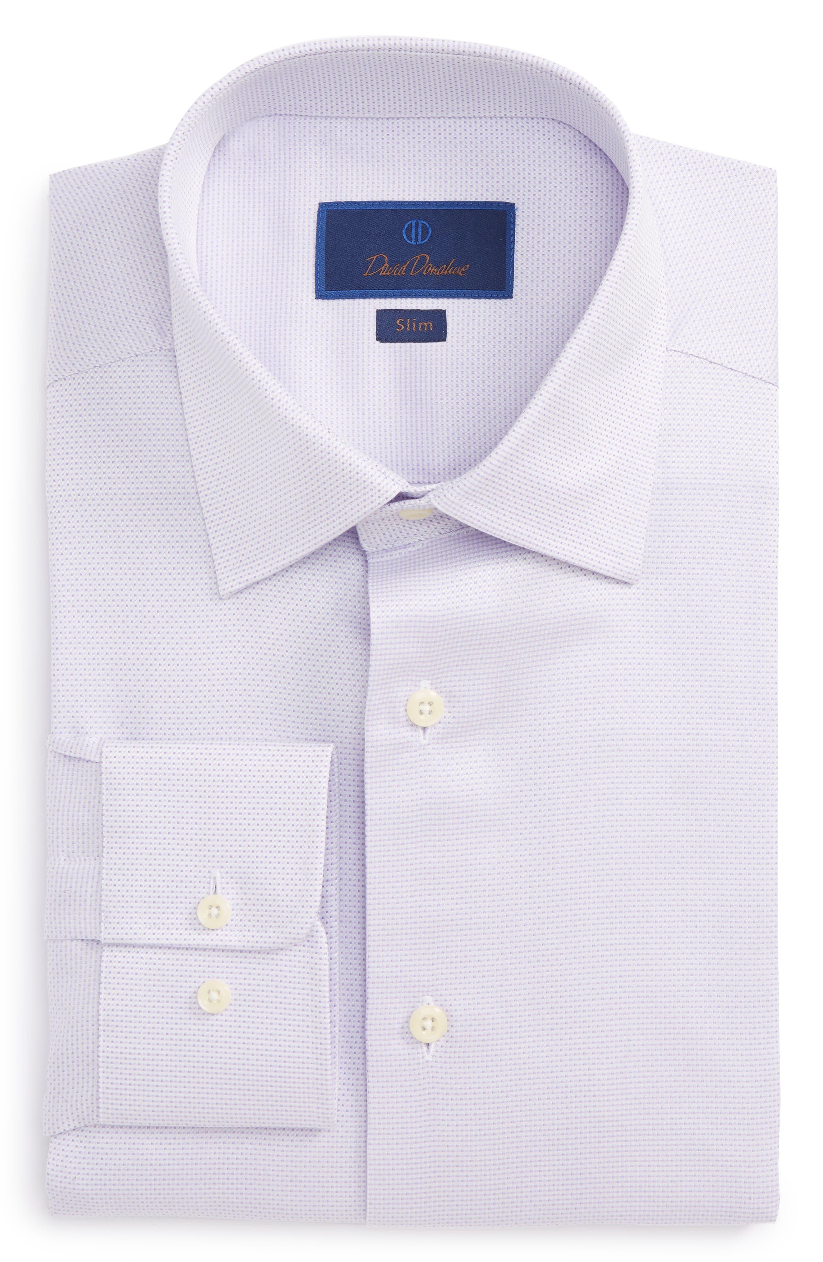 Slim Fit Dobby Dress Shirt,                         Main,                         color, Lilac