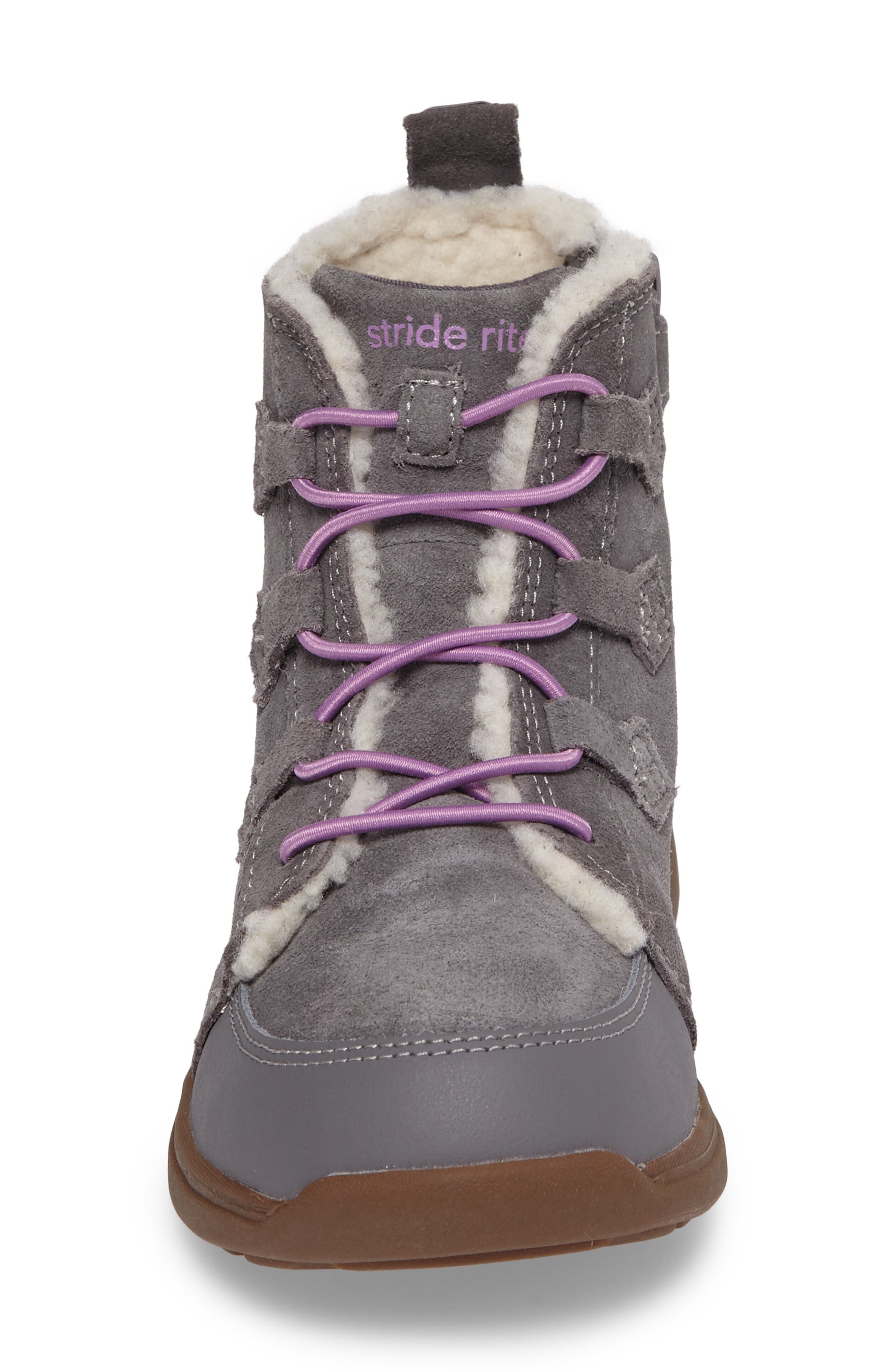 Alternate Image 4  - Stride Rite Made2Play® Washable Faux Fur Heather Bootie (Toddler & Little Kid)