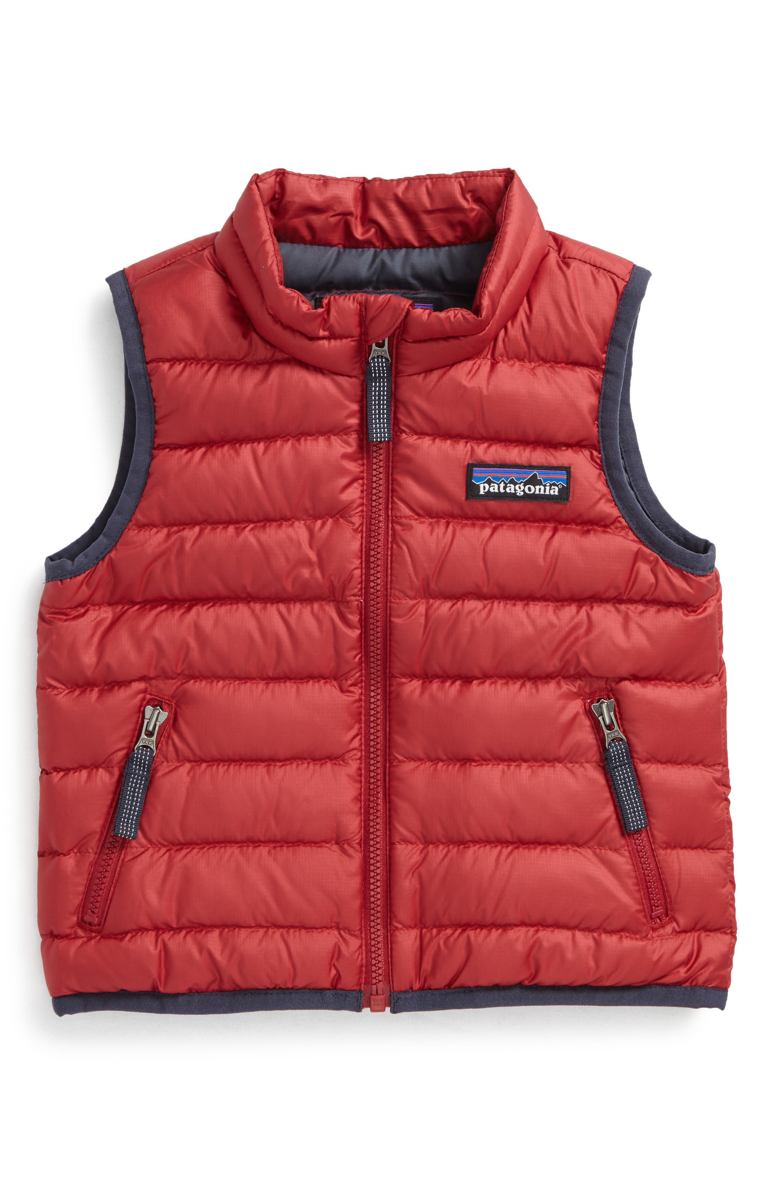Windproof & Water Resistant Down Sweater Vest,                         Main,                         color, Classic Red